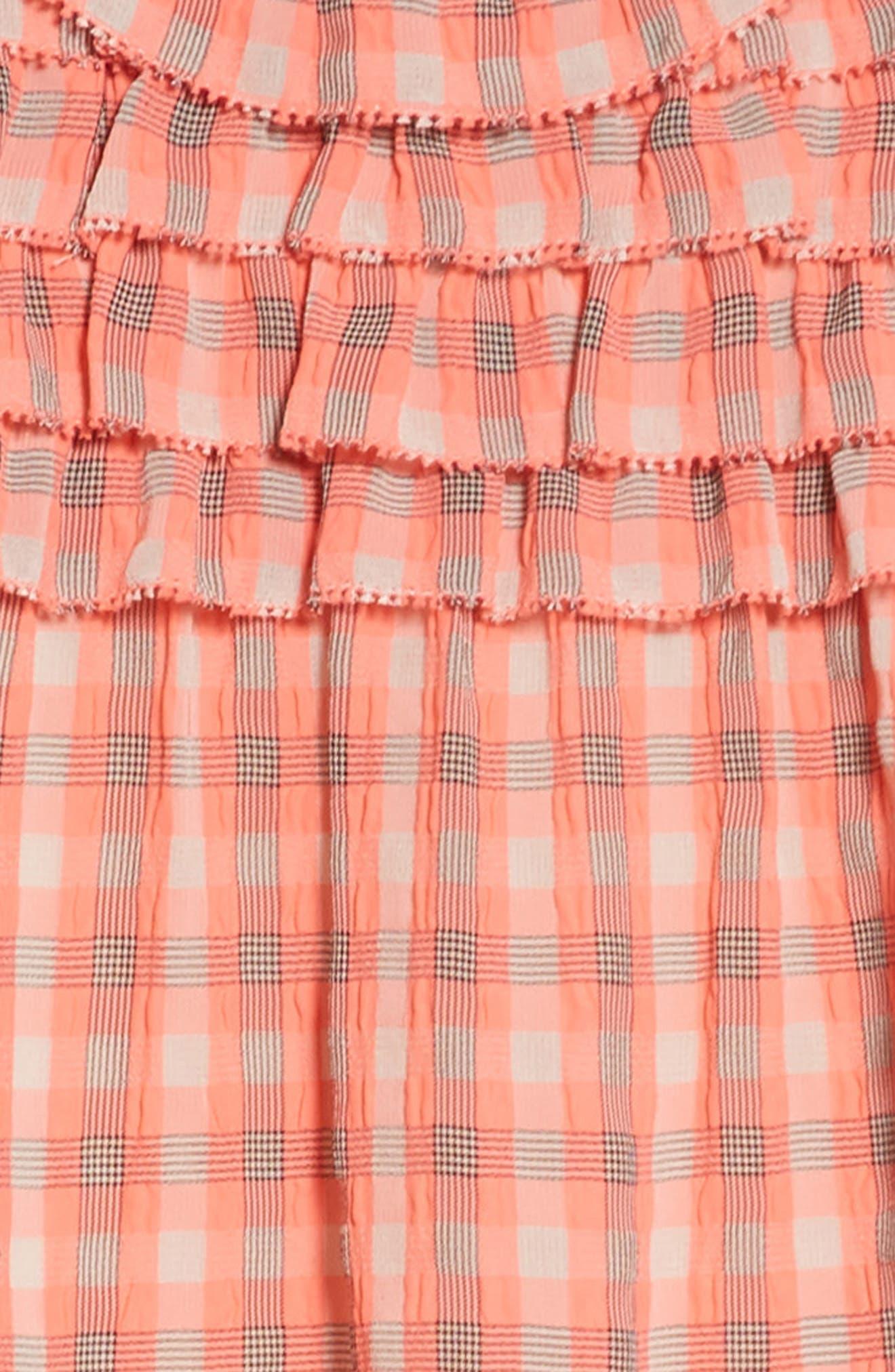 Magnoly Check Ruffle Dress,                             Alternate thumbnail 3, color,