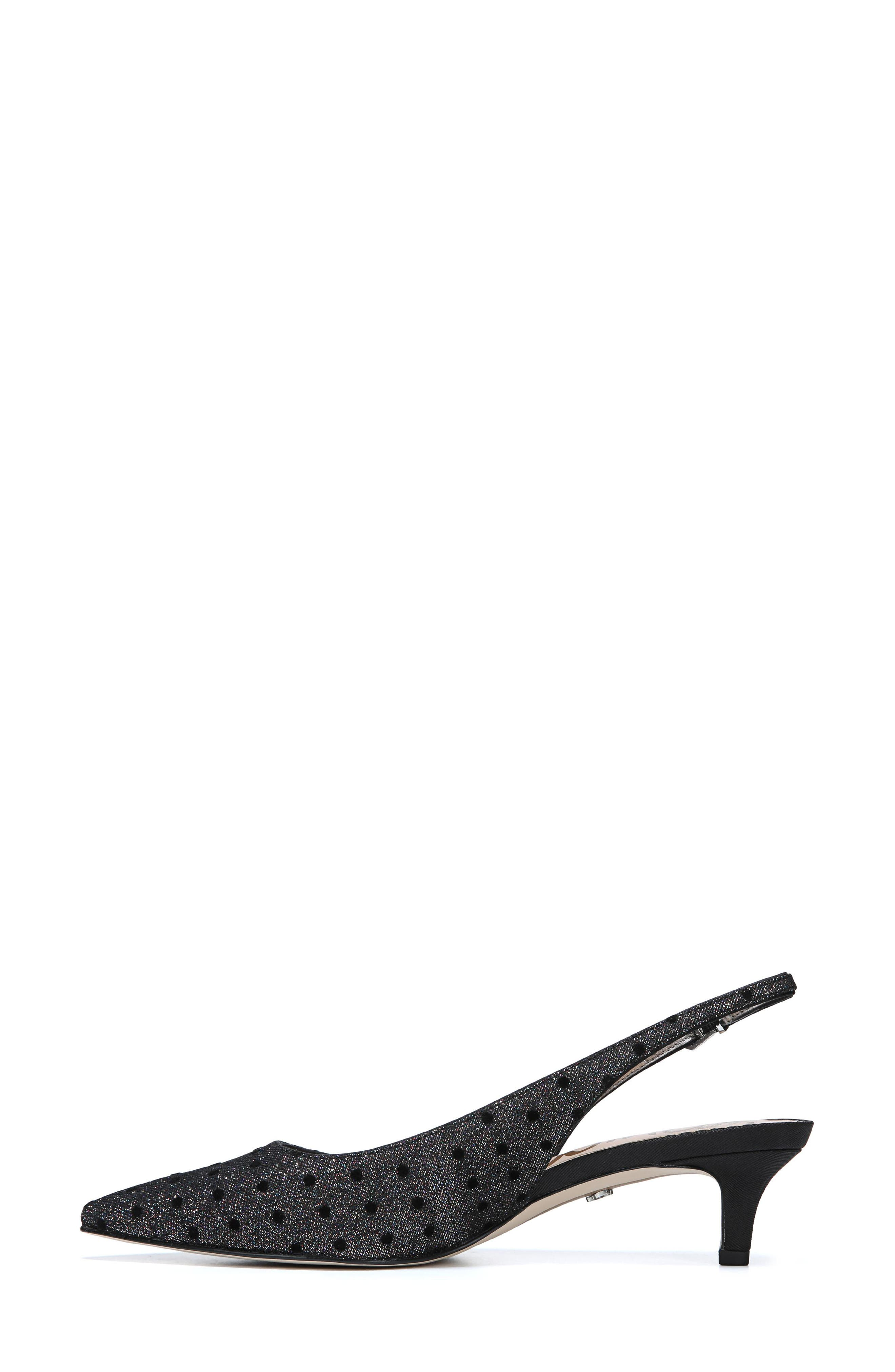 Ludlow Slingback Pump,                             Alternate thumbnail 8, color,                             METALLIC GLITTER