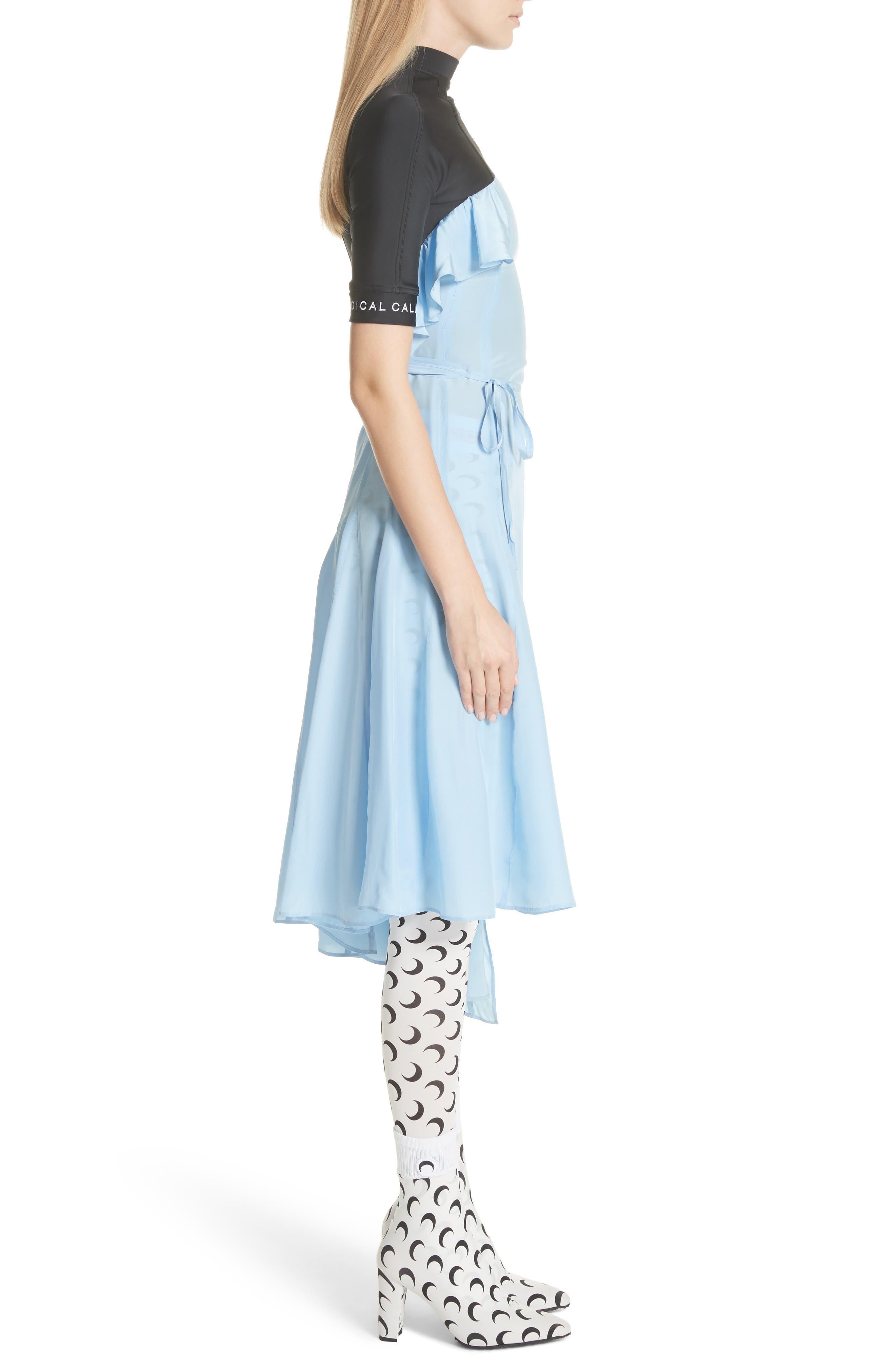 Hybrid Wrap Dress,                             Alternate thumbnail 3, color,                             400