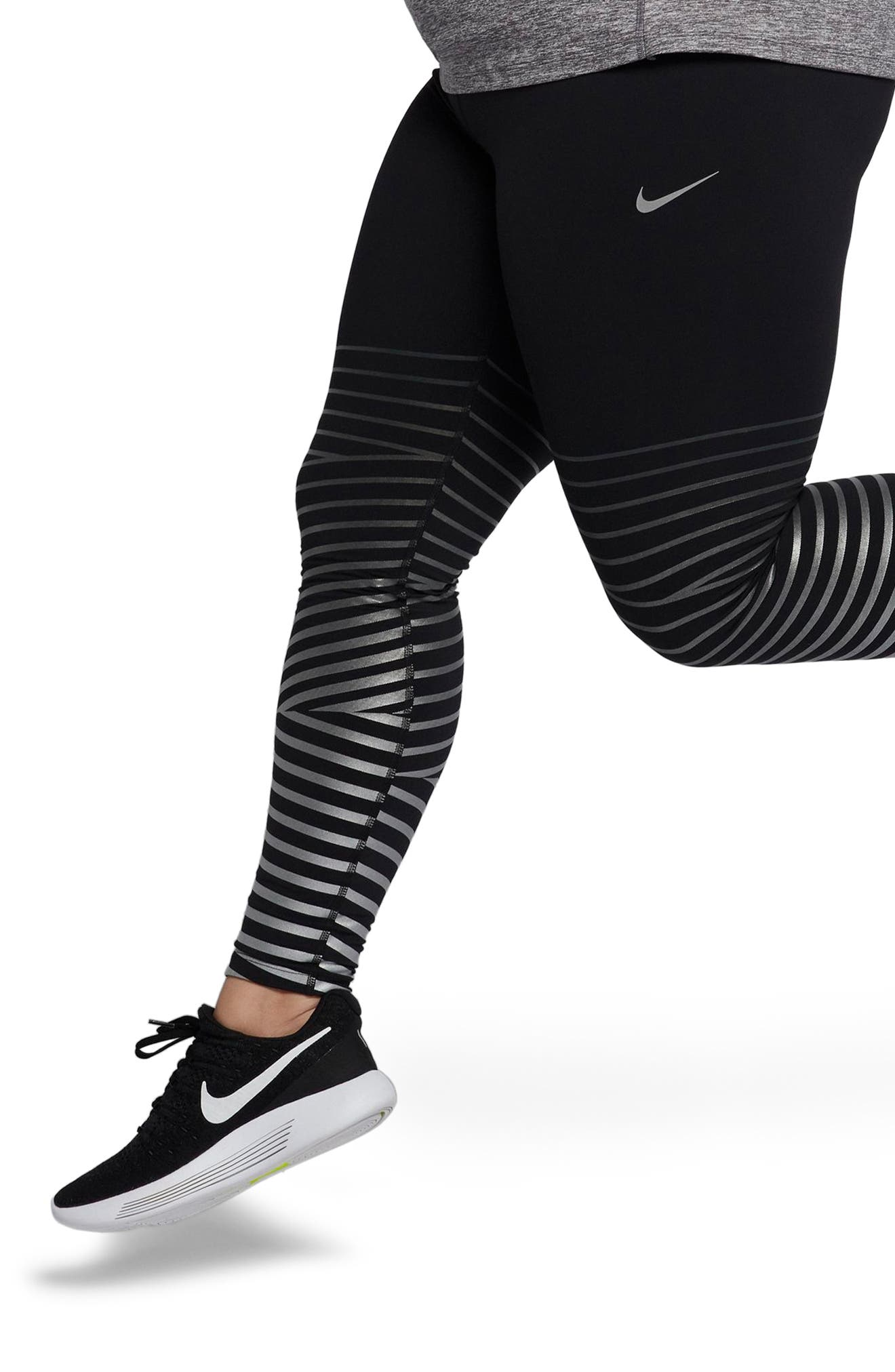 Power Flash Epic Running Tights,                             Alternate thumbnail 4, color,                             010