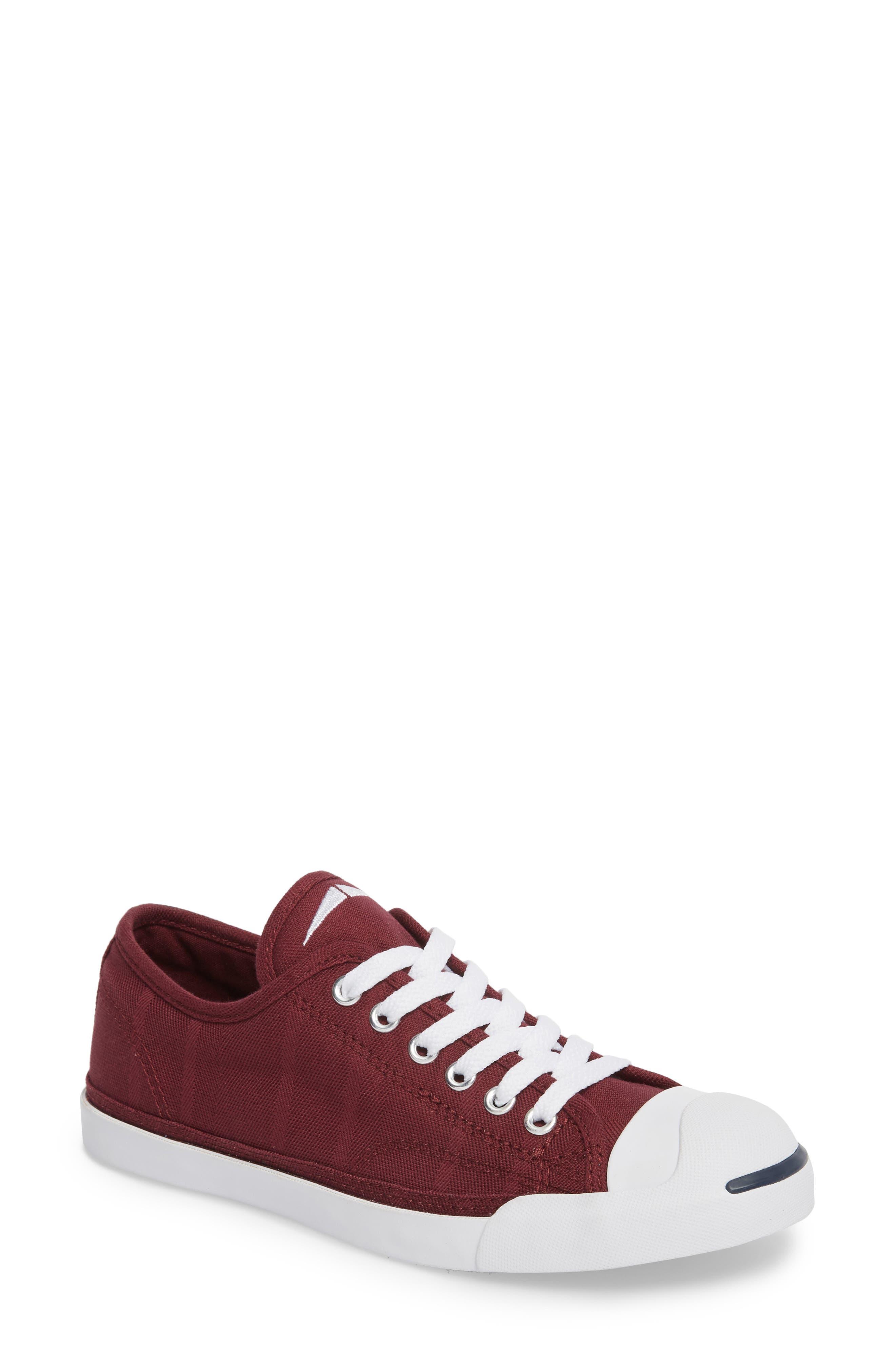 Jack Purcell Low Top Sneaker, Main, color, DARK BURGUNDY