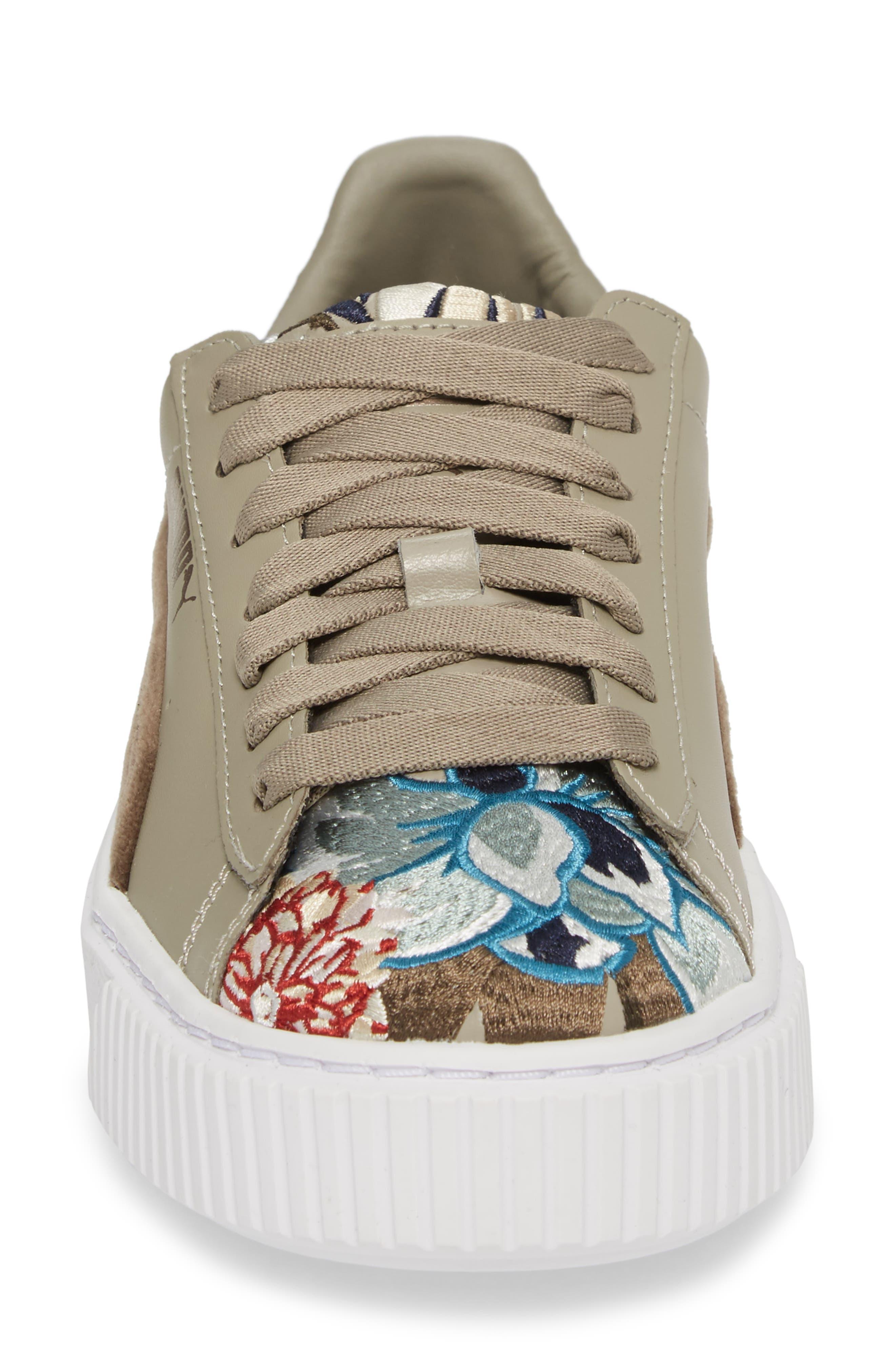 Platform Hyper Embroidered Sneaker,                             Alternate thumbnail 7, color,