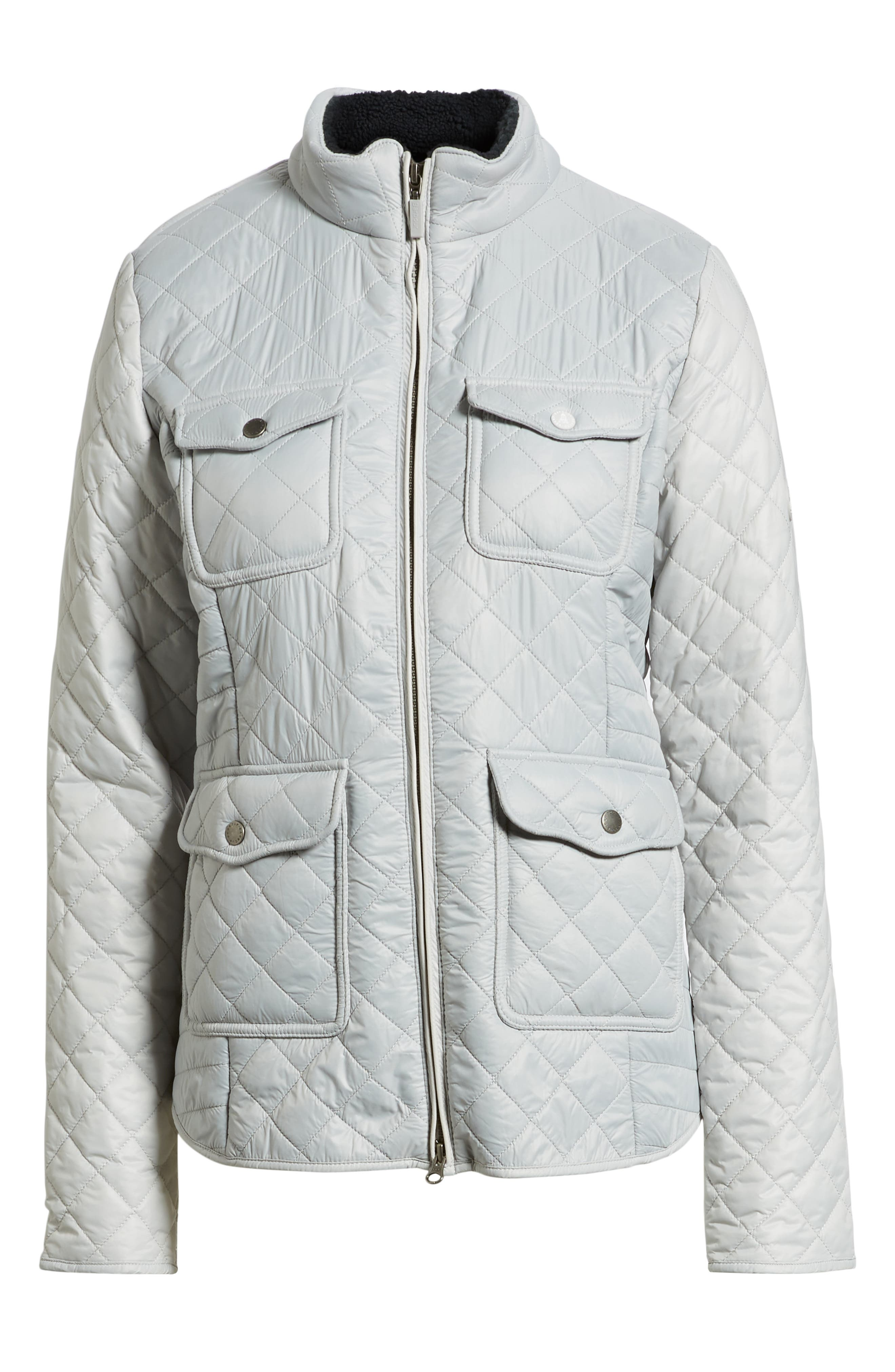 BARBOUR,                             Weymouth Quilted Jacket,                             Alternate thumbnail 6, color,                             100