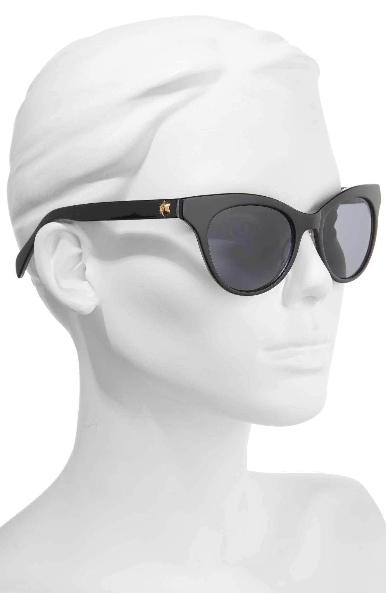 54mm Gradient Lens Cat Eye Sunglasses,                             Alternate thumbnail 2, color,                             001