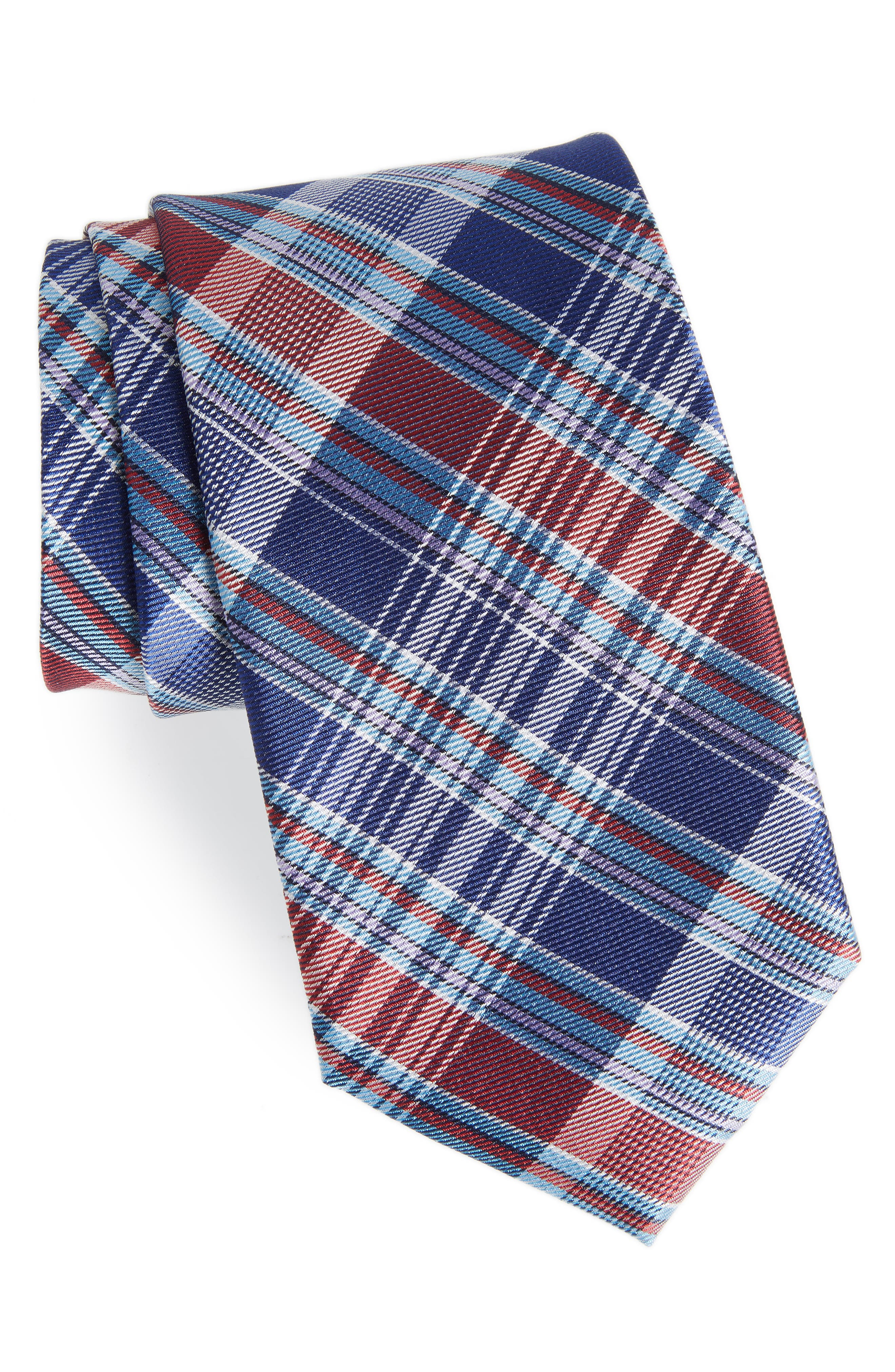Sassafrass Plaid Silk Tie,                             Main thumbnail 5, color,
