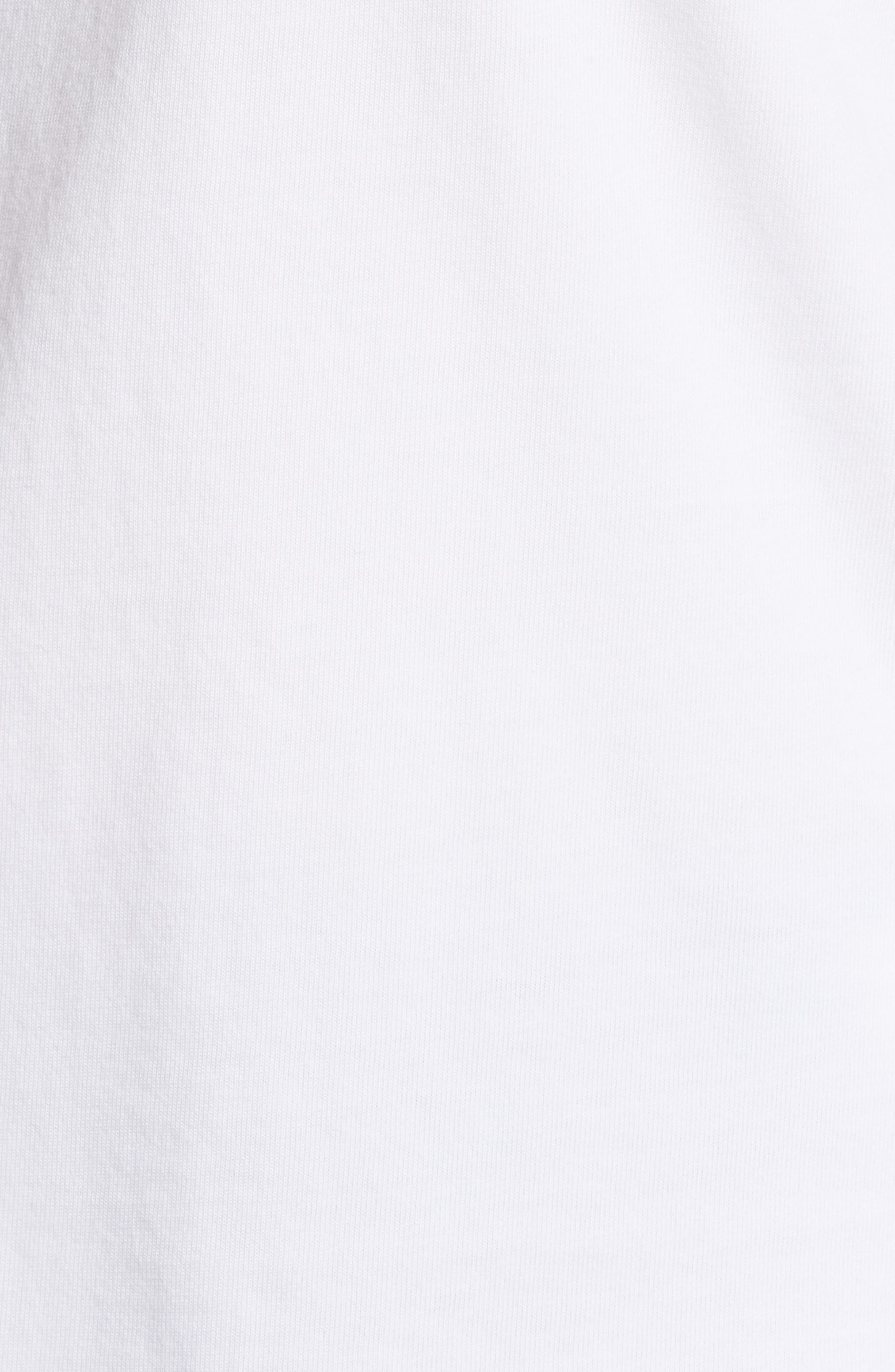 Santa Whale Pocket Tee,                             Alternate thumbnail 5, color,                             WHITE CAP