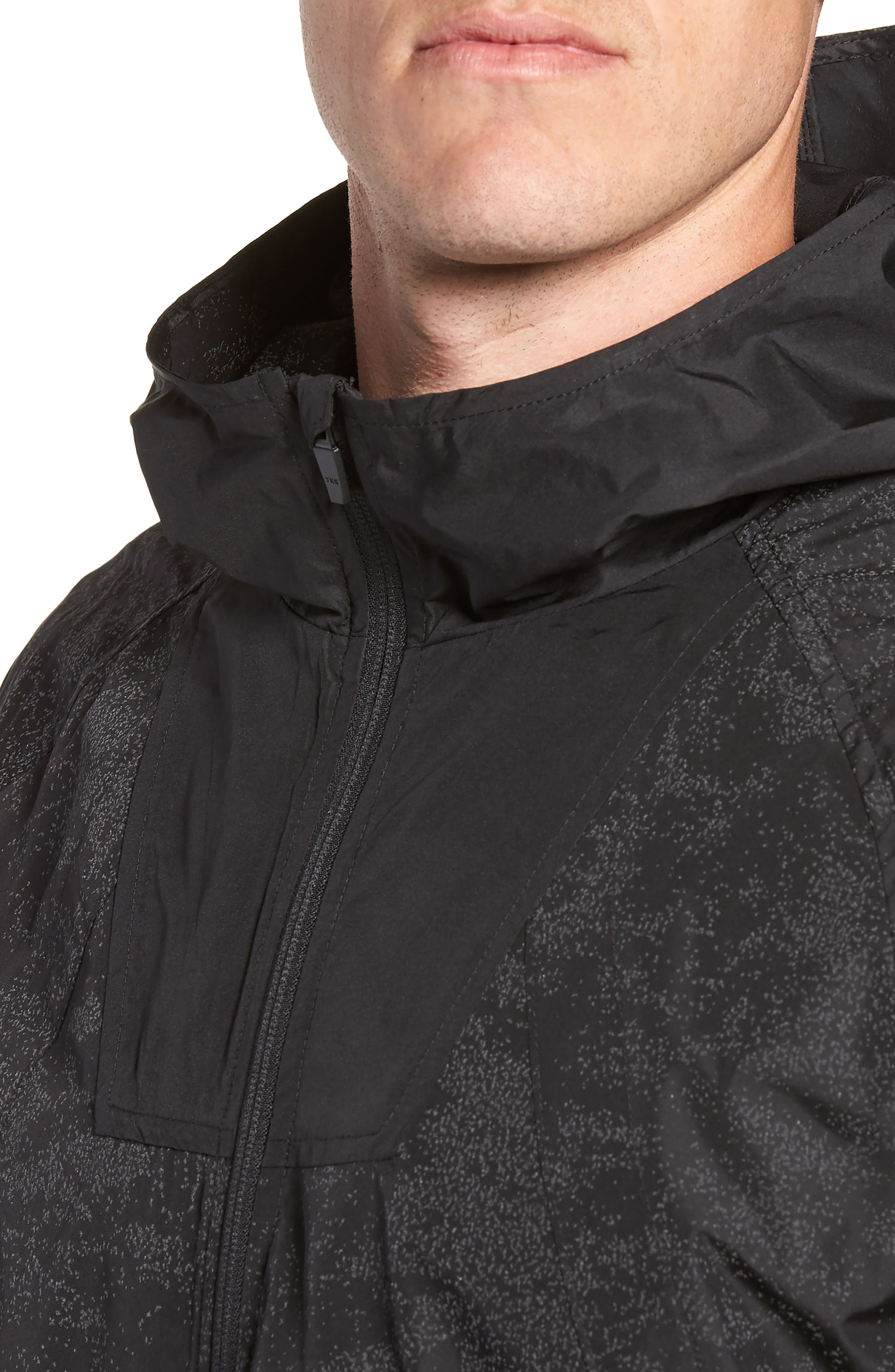 Hooded Reflective Jacket,                             Alternate thumbnail 4, color,                             BLACK REFLECTIVE
