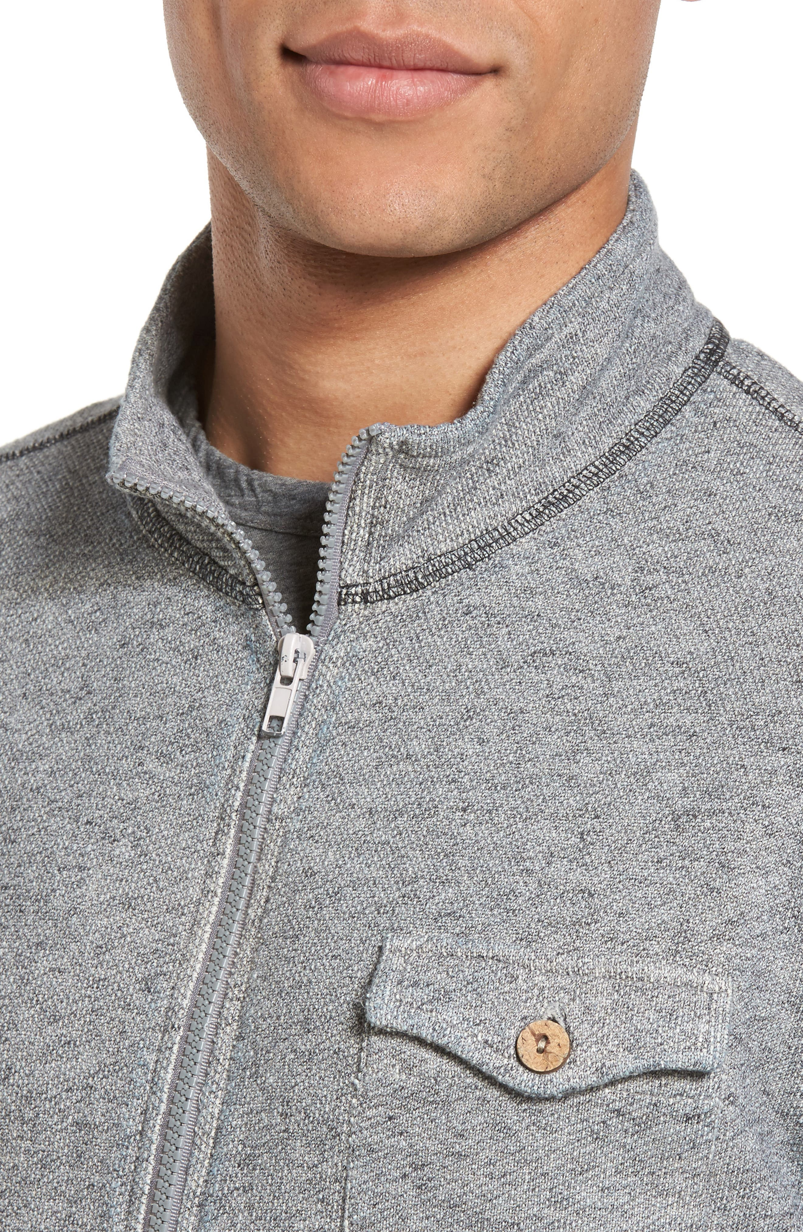 French Terry Zip Cardigan,                             Alternate thumbnail 4, color,                             020