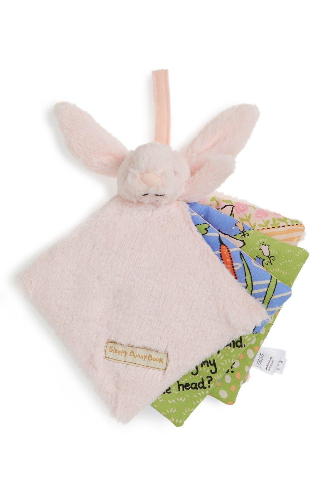 'Sleepy Bunny' Soft Fabric Book,                             Main thumbnail 1, color,                             650