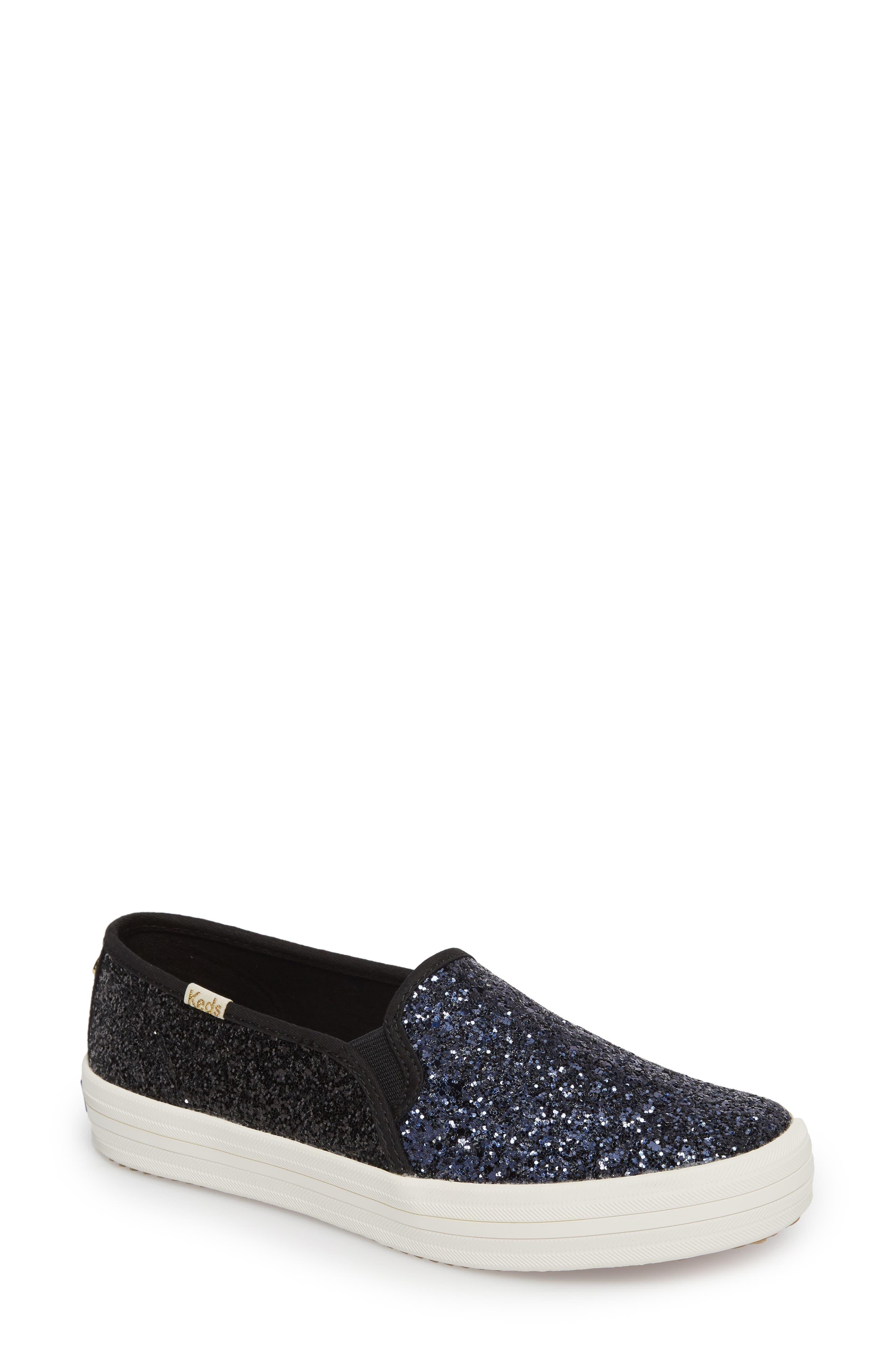 double decker glitter slip-on sneaker,                         Main,                         color, 410