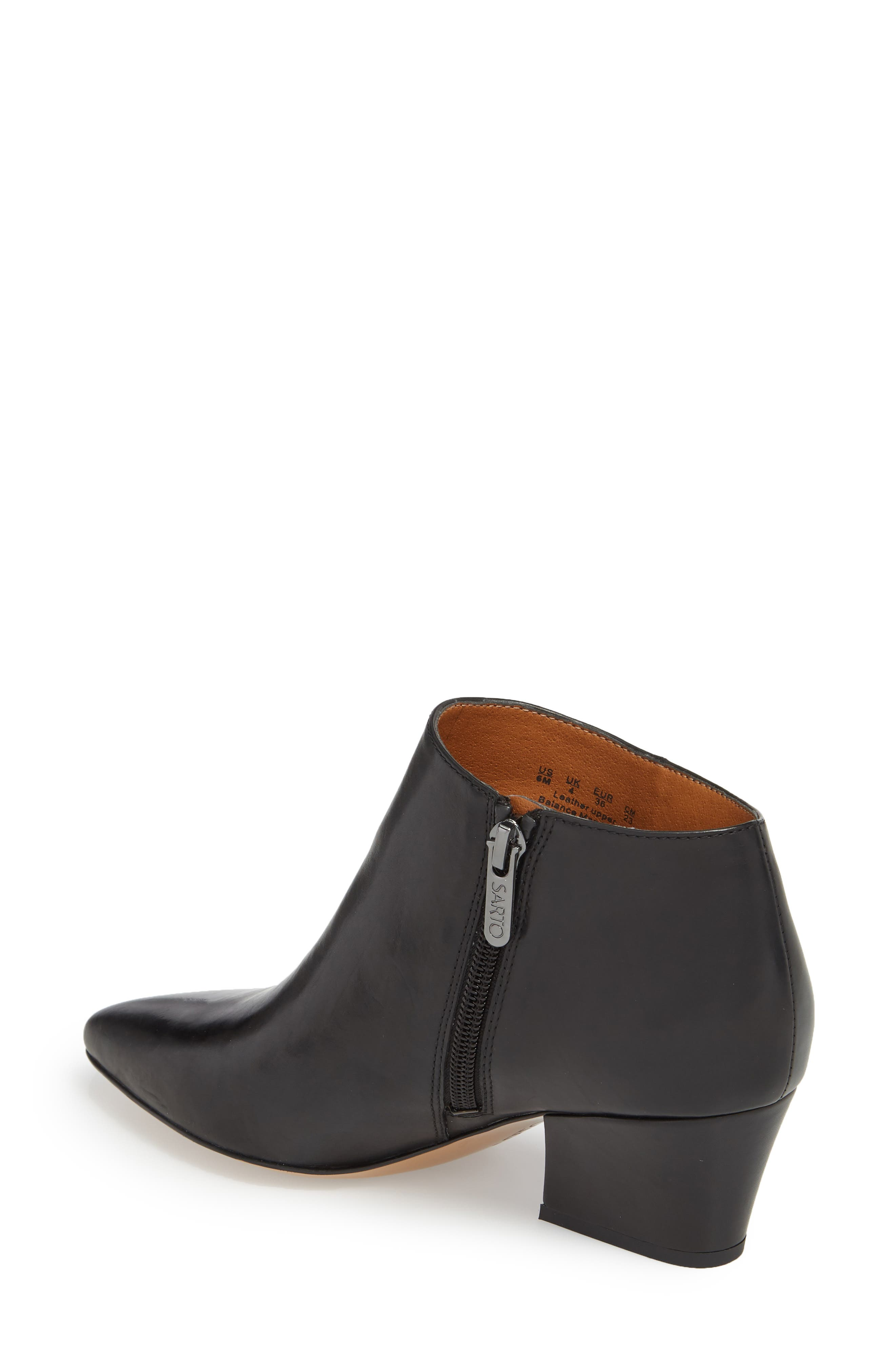 Lowe Bootie,                             Alternate thumbnail 2, color,                             BLACK LEATHER