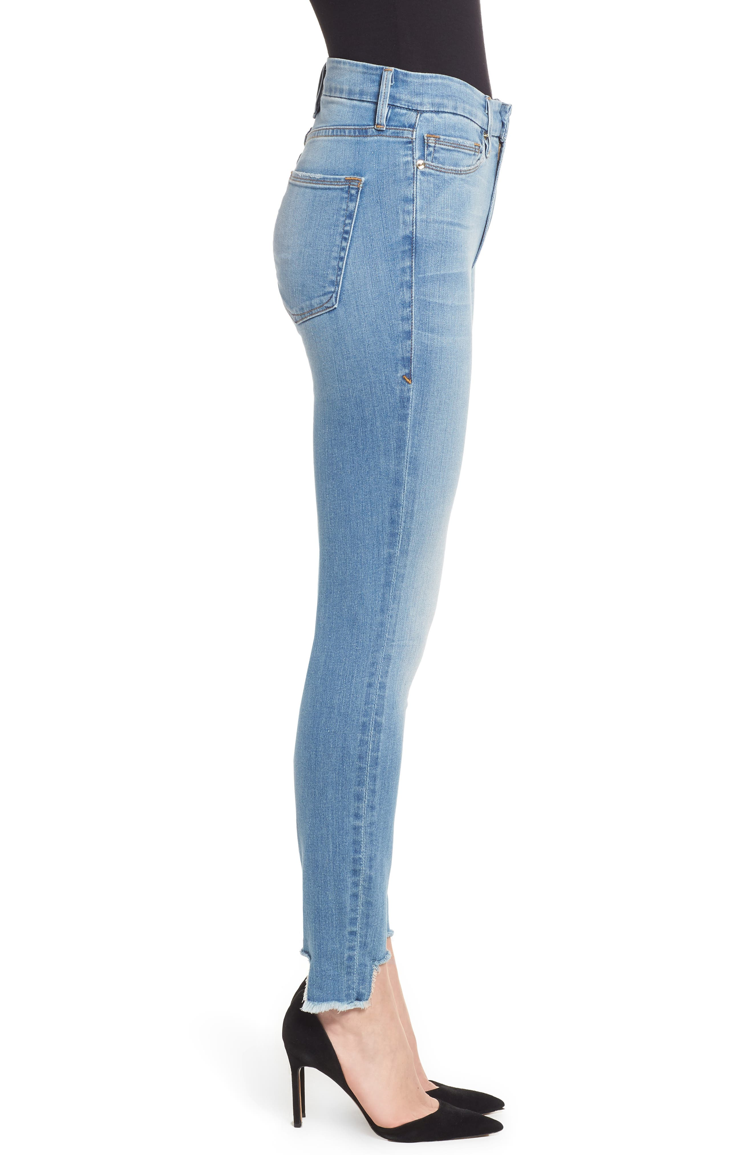 Good Waist Tunnel Hem Skinny Jeans,                             Alternate thumbnail 3, color,                             402
