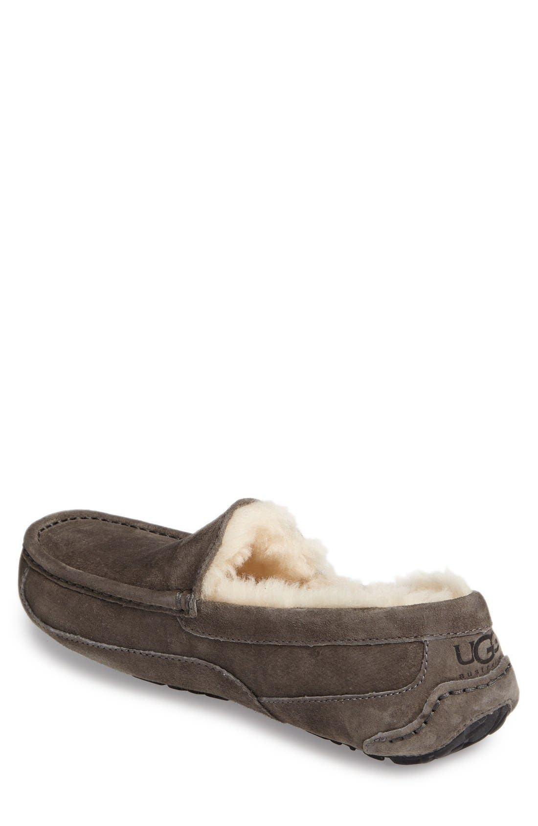 Ascot Suede Slipper,                             Alternate thumbnail 5, color,                             CHARCOAL