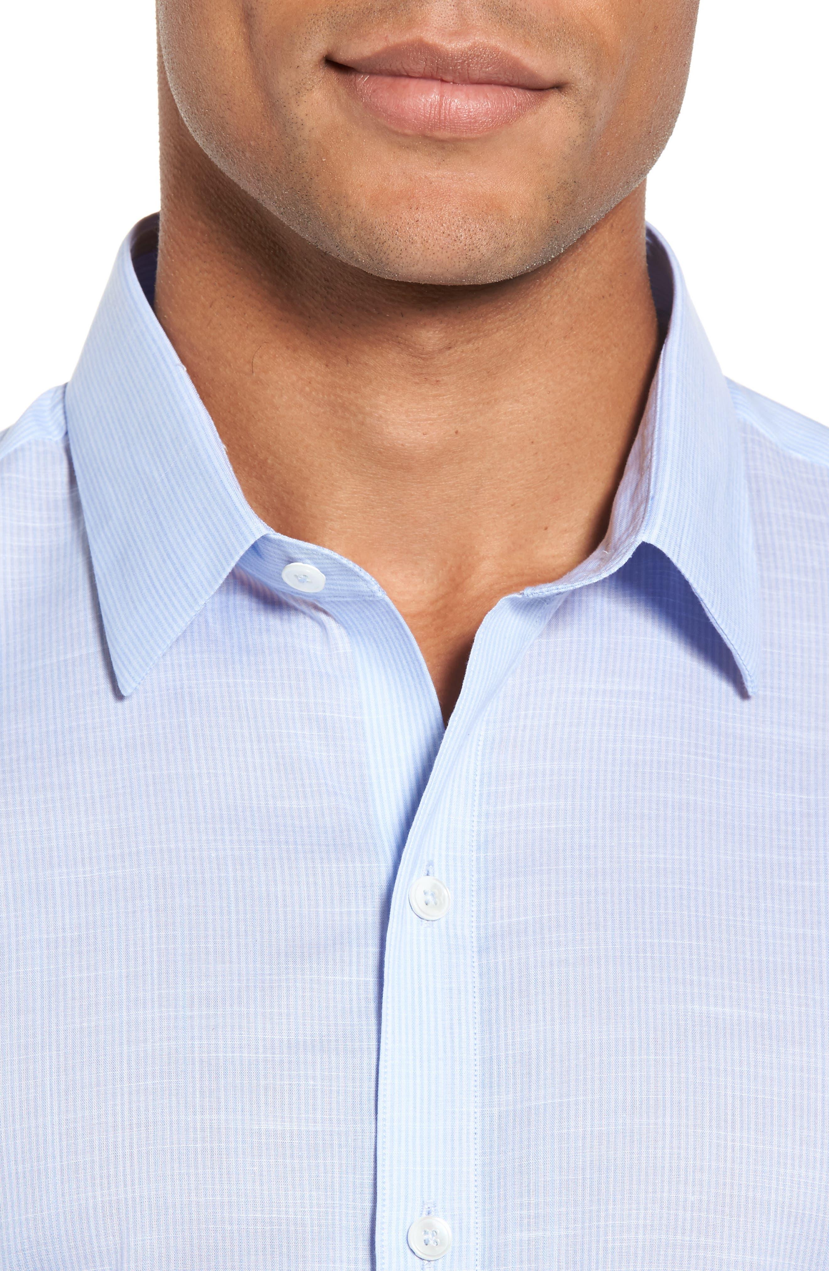 Ridley Slim Fit Texture Sport Shirt,                             Alternate thumbnail 4, color,
