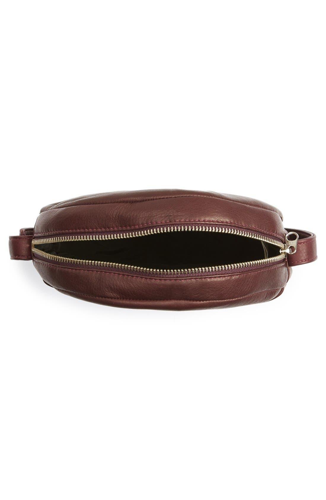 Pebbled Leather Crossbody Bag,                             Alternate thumbnail 18, color,