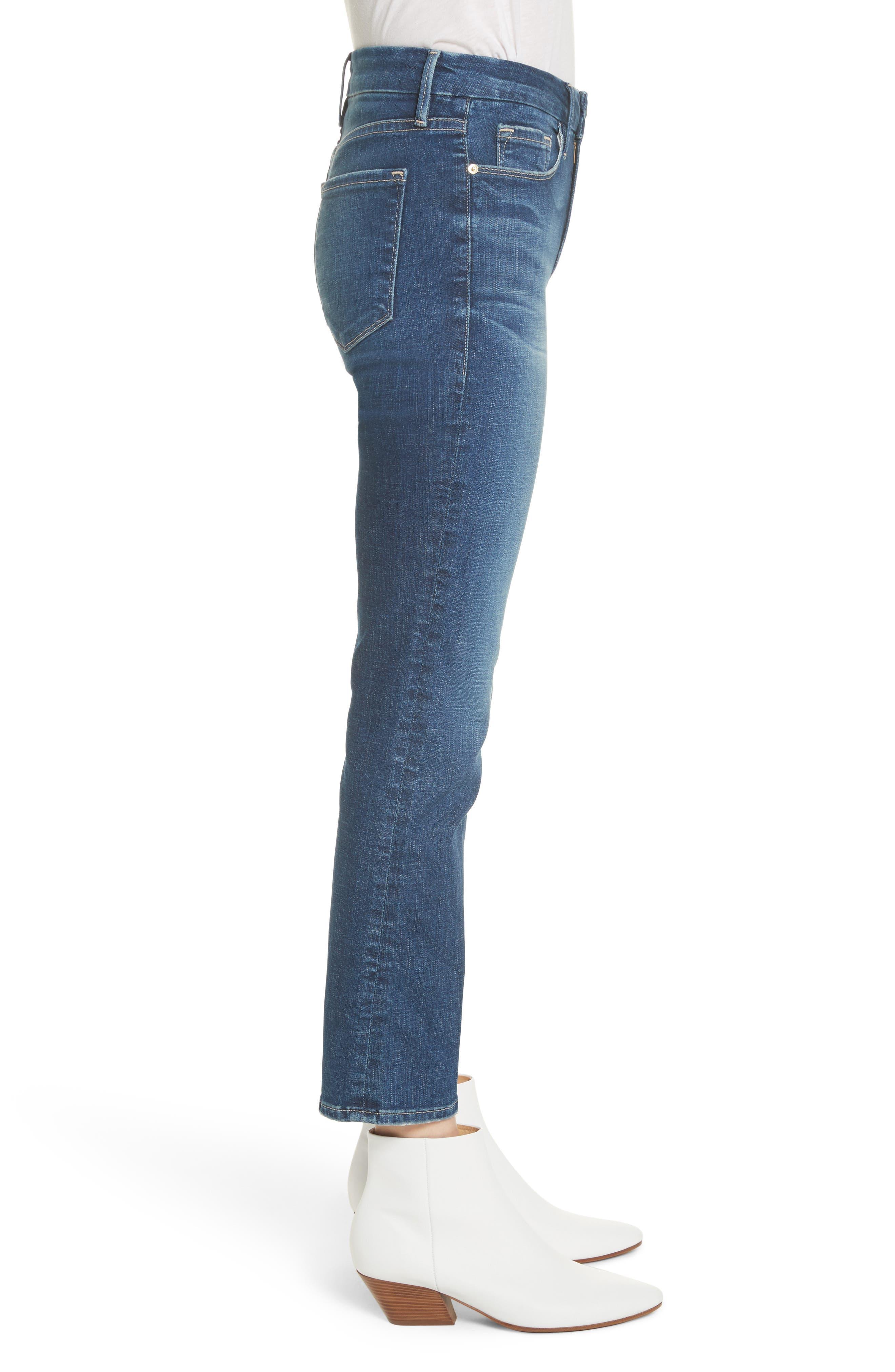Le Crop Mini Boot Jeans,                             Alternate thumbnail 3, color,                             401