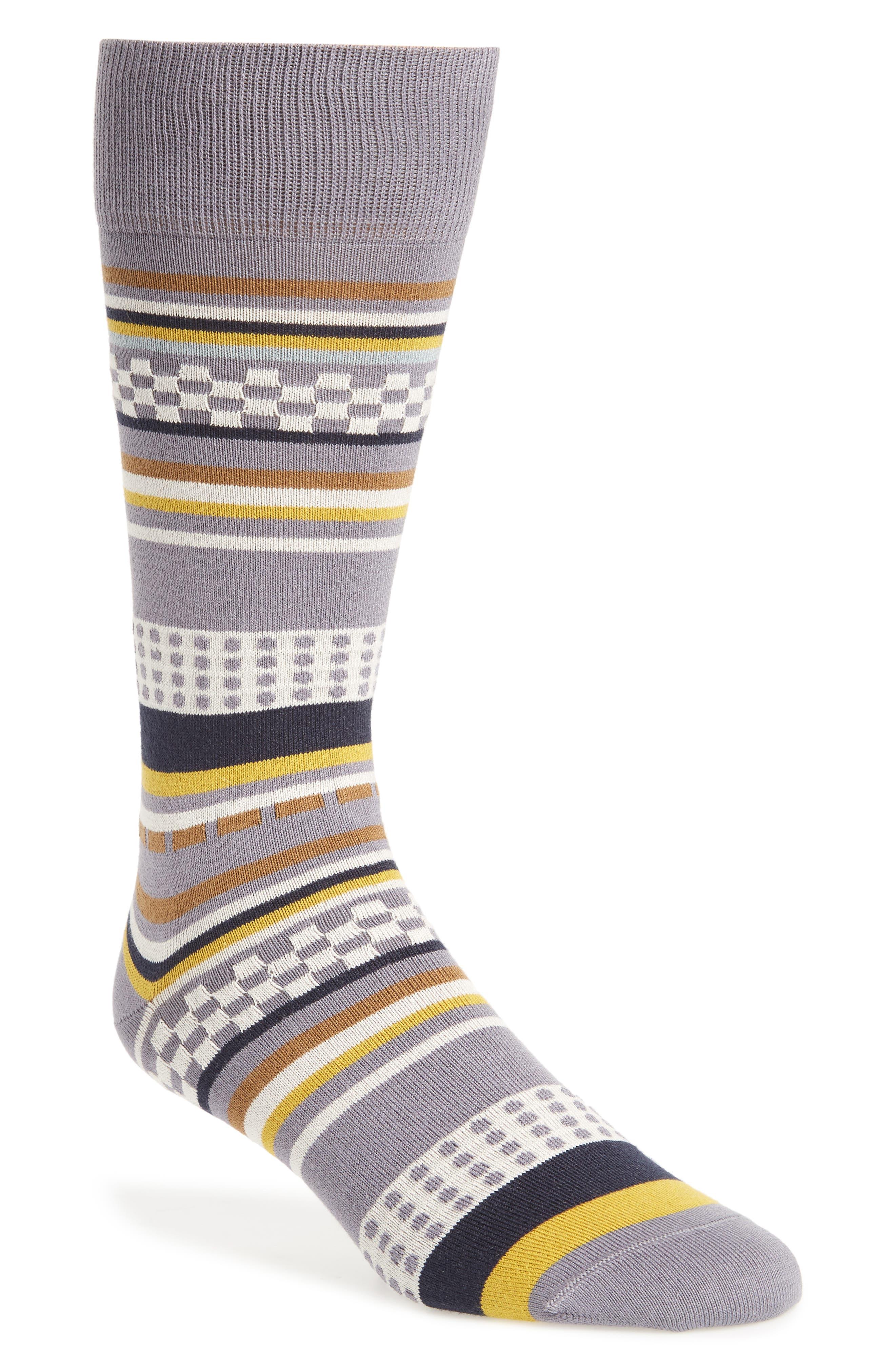 Jiggle Stripe Socks,                         Main,                         color,