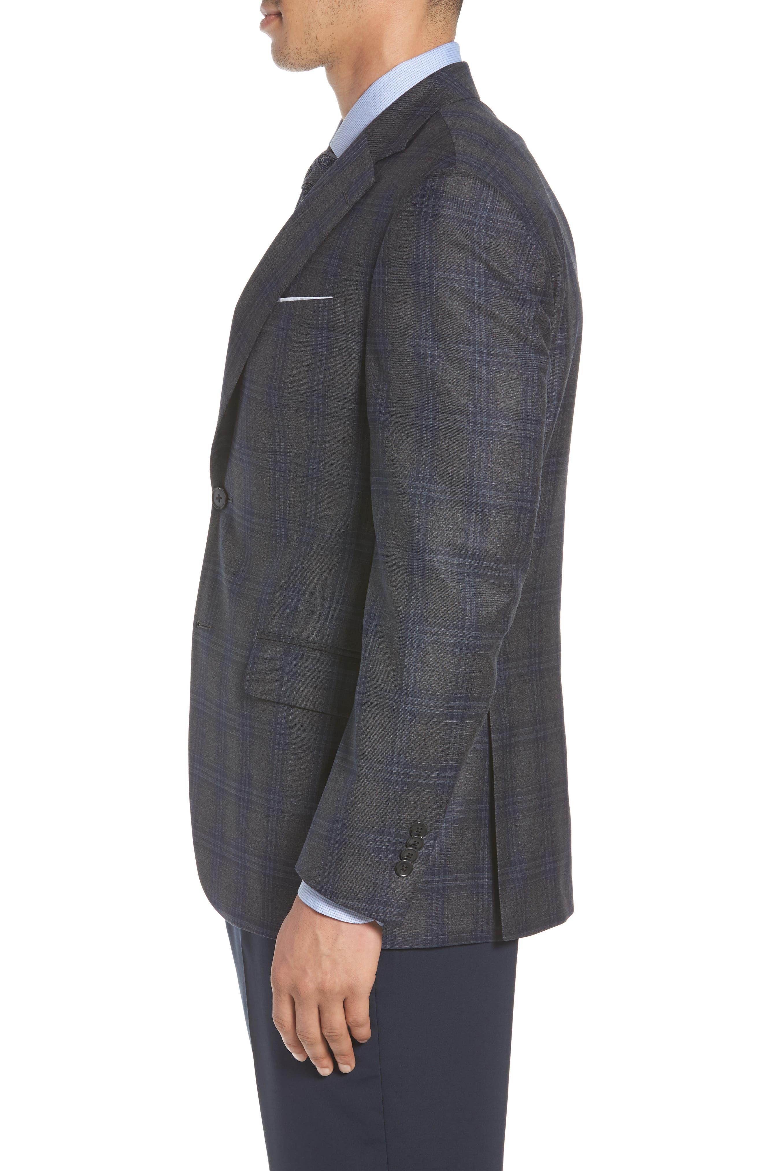 PETER MILLAR,                             Classic Fit Plaid Wool Sport Coat,                             Alternate thumbnail 3, color,                             020