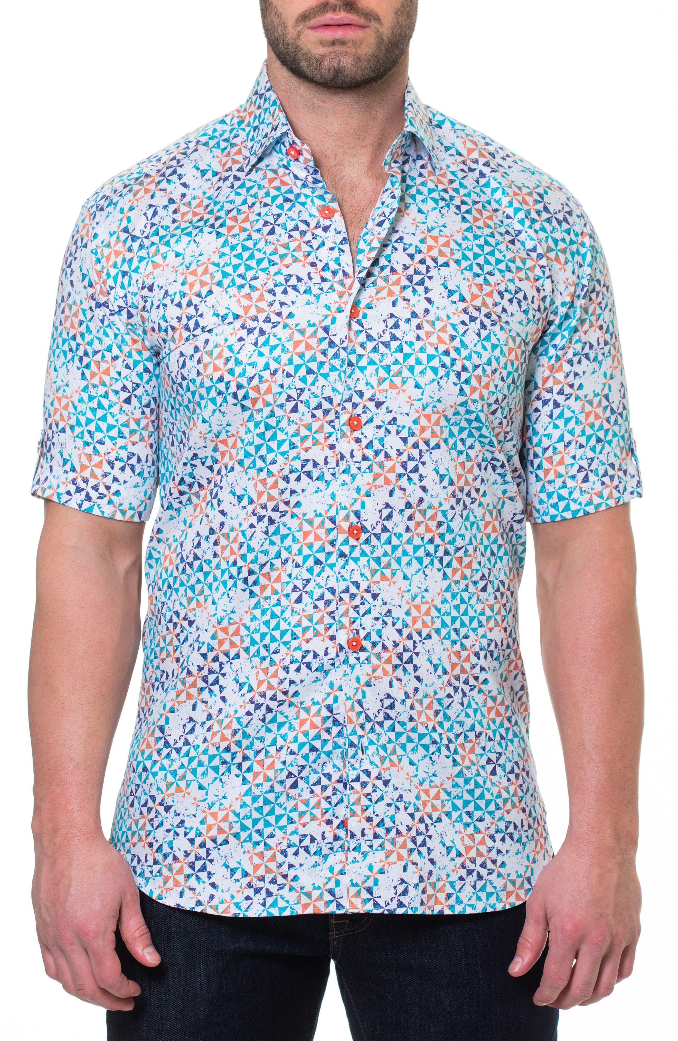 Fresh Circus Sport Shirt,                         Main,                         color, WHITE