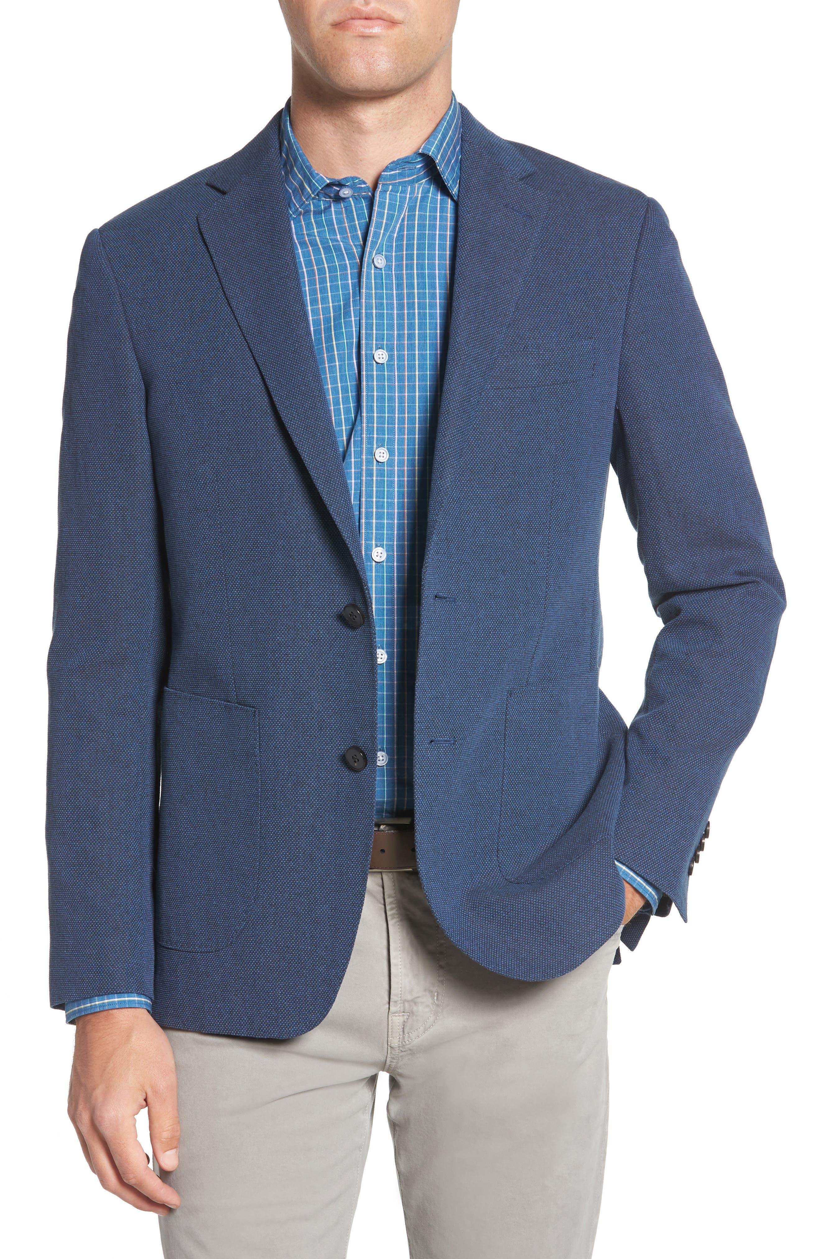 Point Break Sport Fit Cotton & Linen Blazer,                             Main thumbnail 1, color,                             432