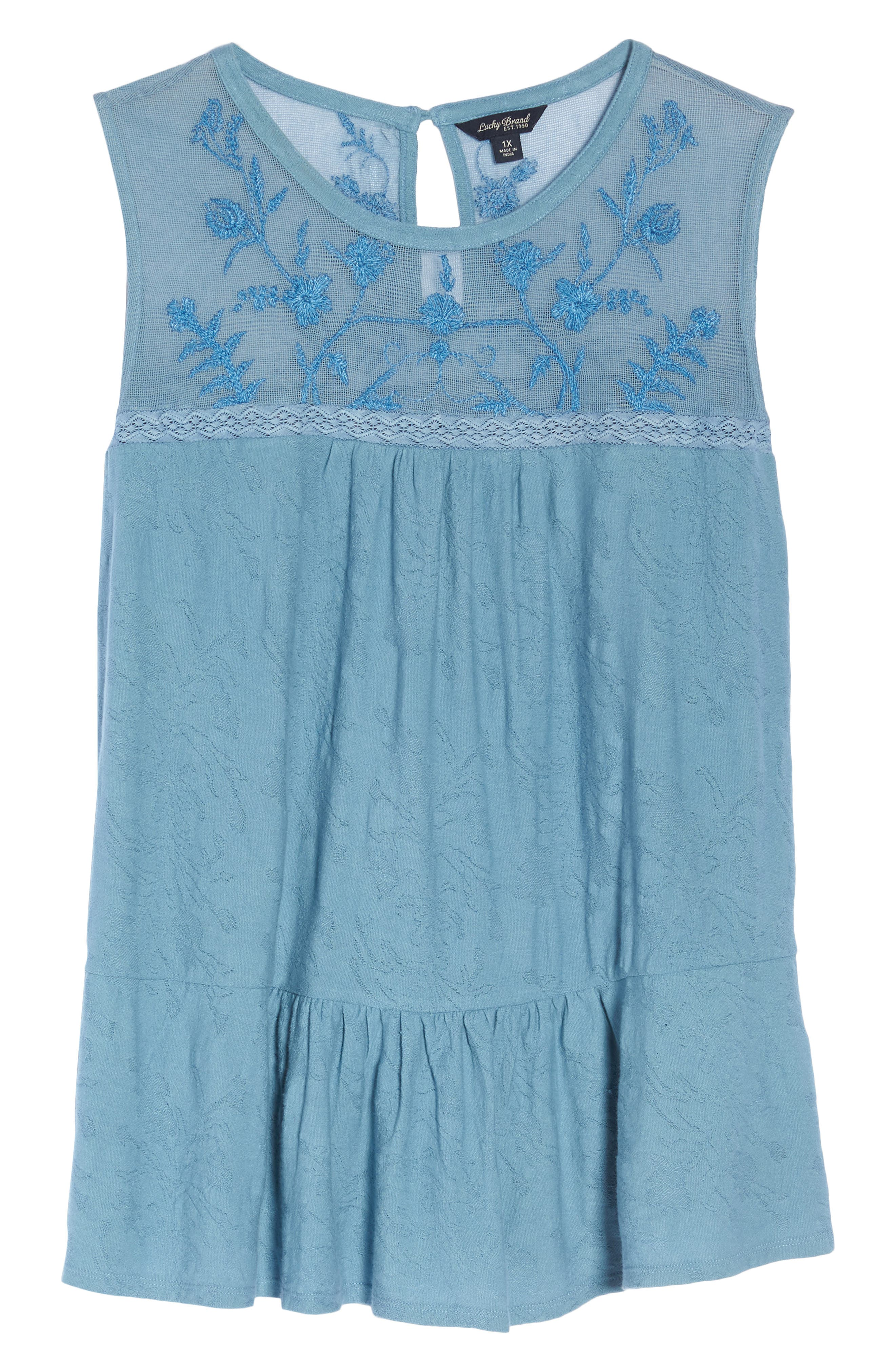 Lucky Tiered Jacquard Tank,                             Alternate thumbnail 13, color,