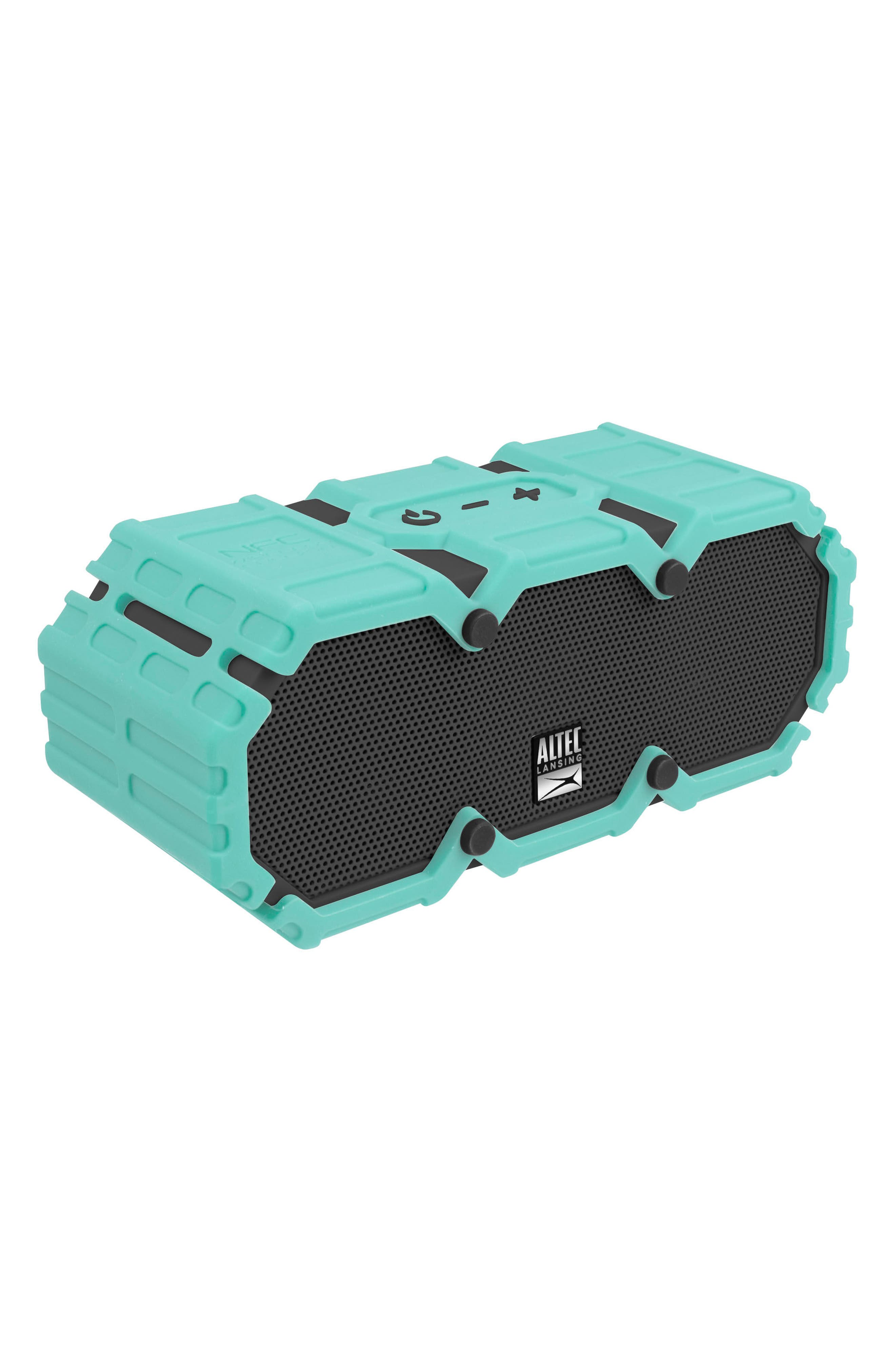 Mini Lifejacket S3 Waterproof Wireless Speaker,                             Alternate thumbnail 3, color,                             MINT GREEN/ DARK GREY