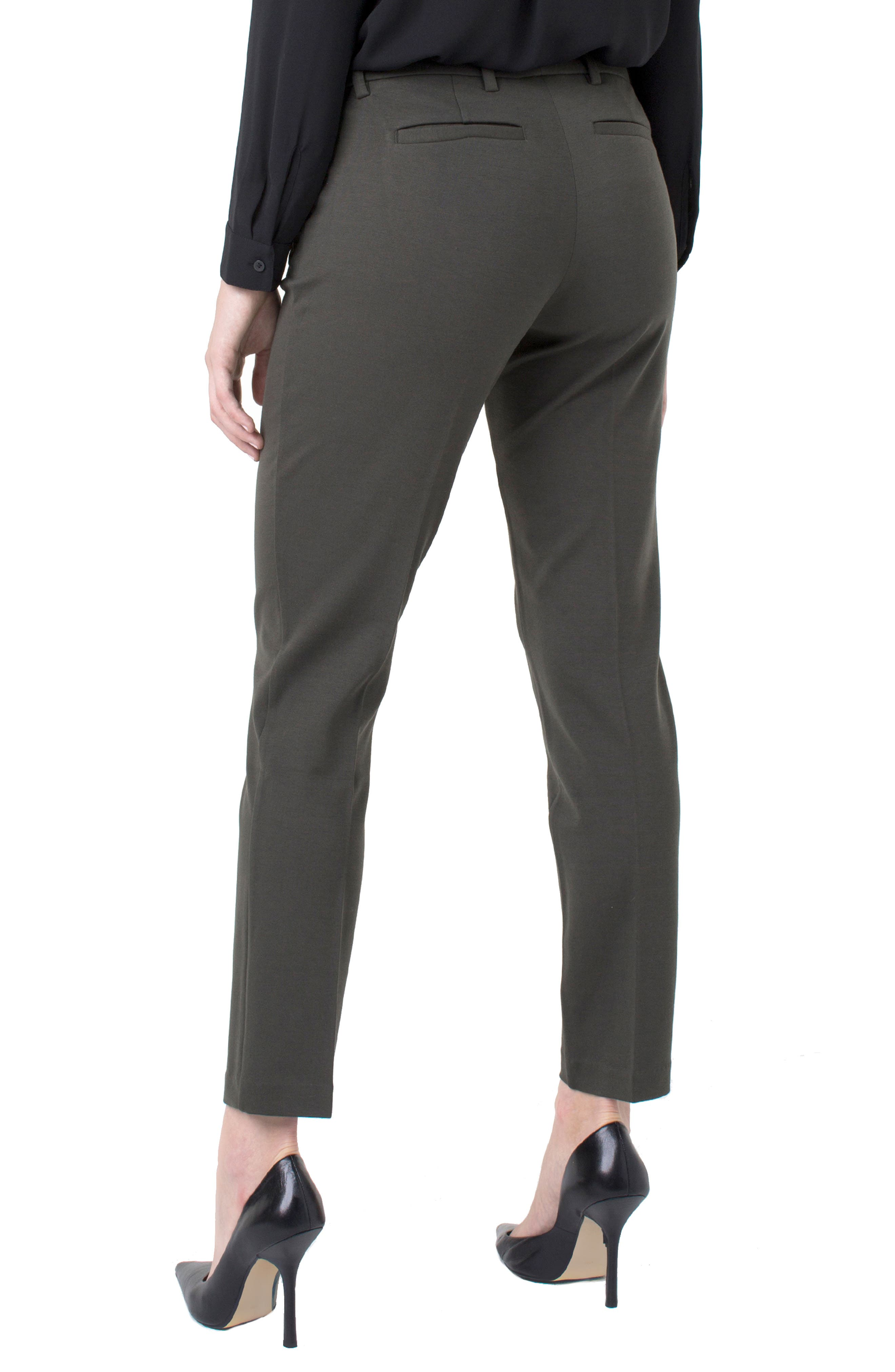 Kelsey Knit Trousers,                             Alternate thumbnail 2, color,                             PEAT GREEN