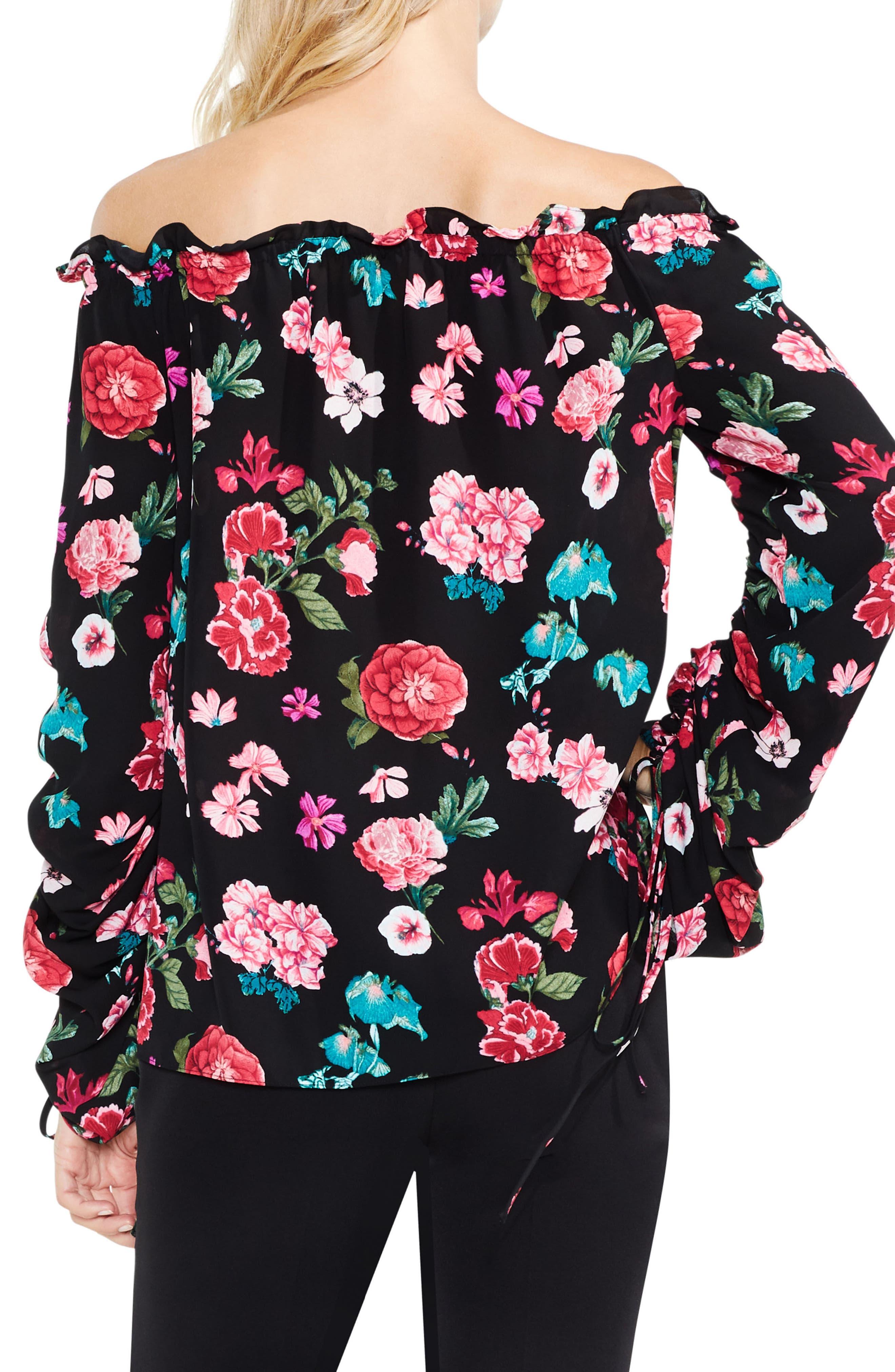 Off the Shoulder Floral Heirloom Top,                             Alternate thumbnail 2, color,                             006