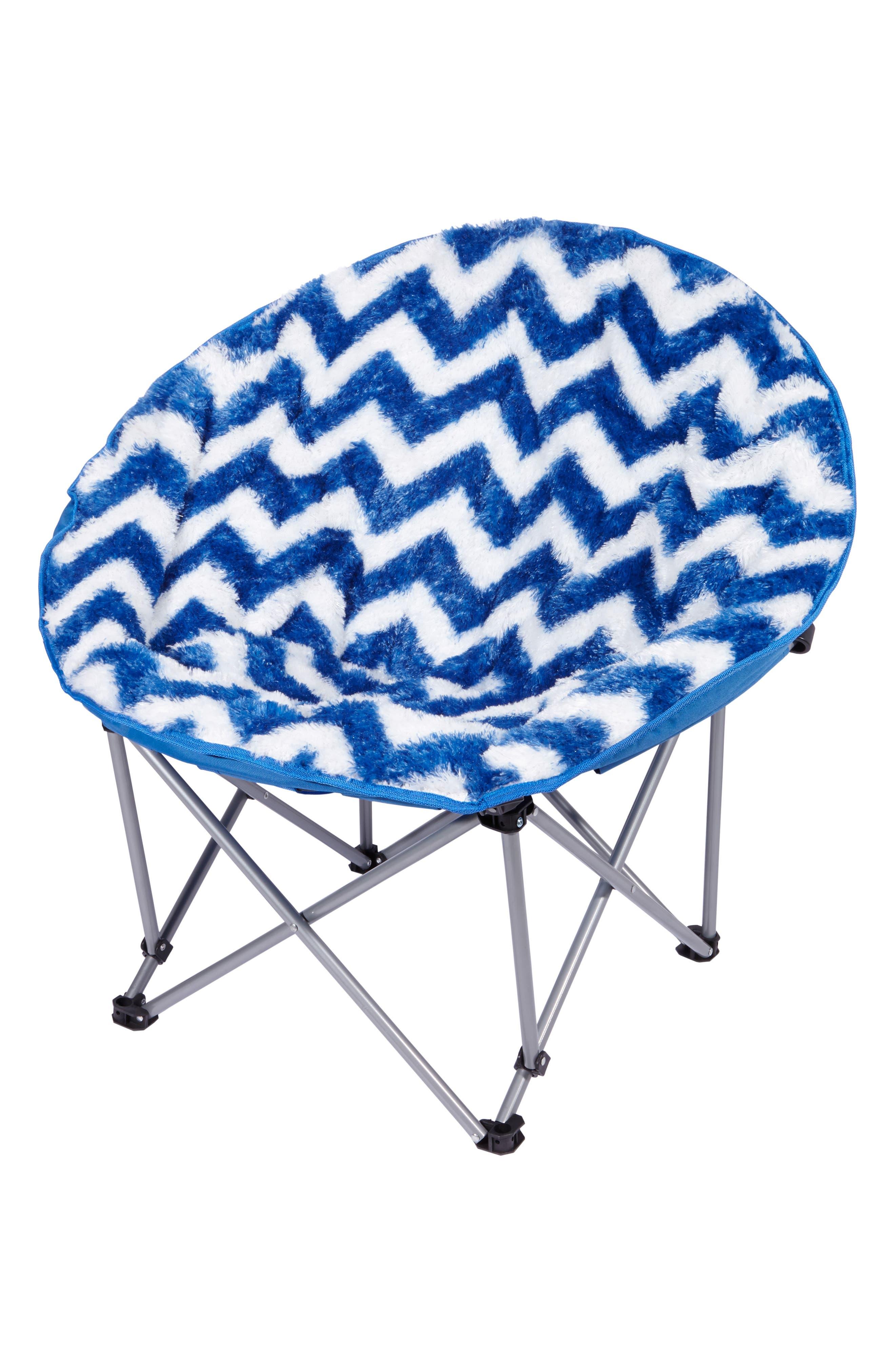Chevron Moon Chair,                             Main thumbnail 1, color,                             BLUE