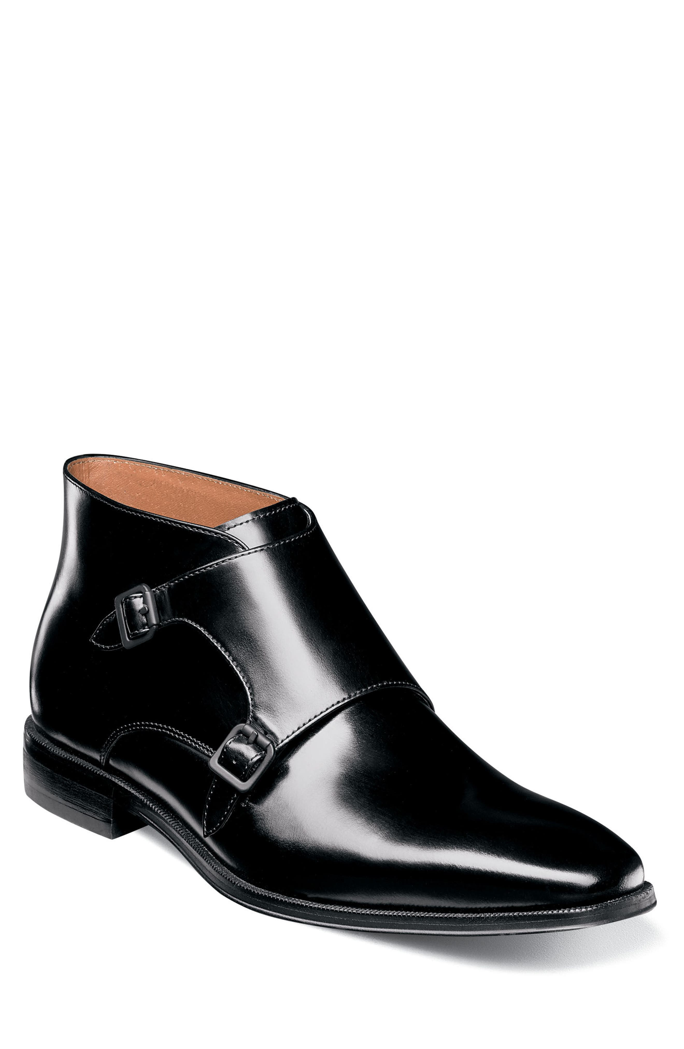 Belfast Double Monk Strap Boot,                         Main,                         color,