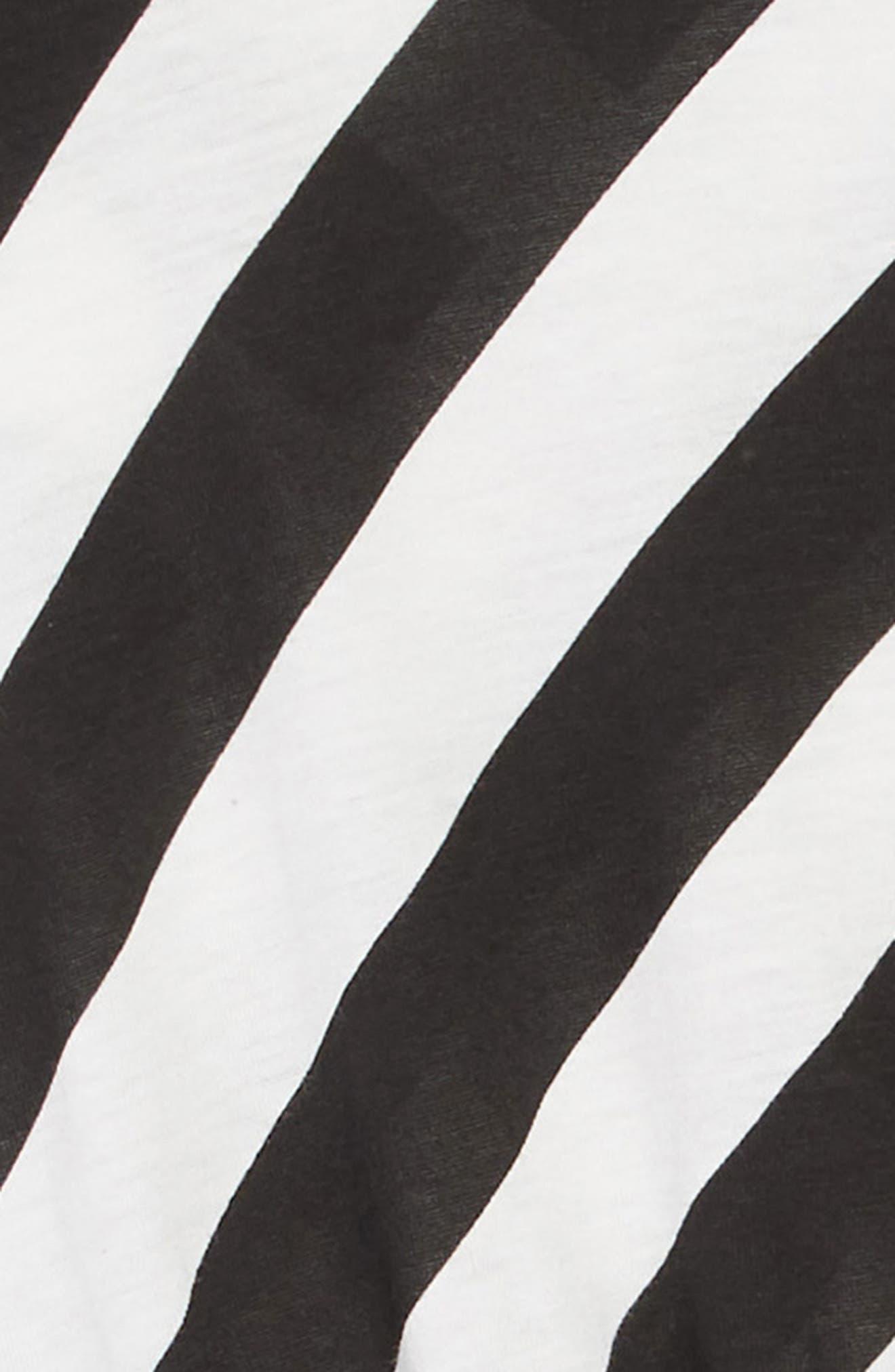 Stripe Tulle Dress,                             Alternate thumbnail 3, color,                             BLACK