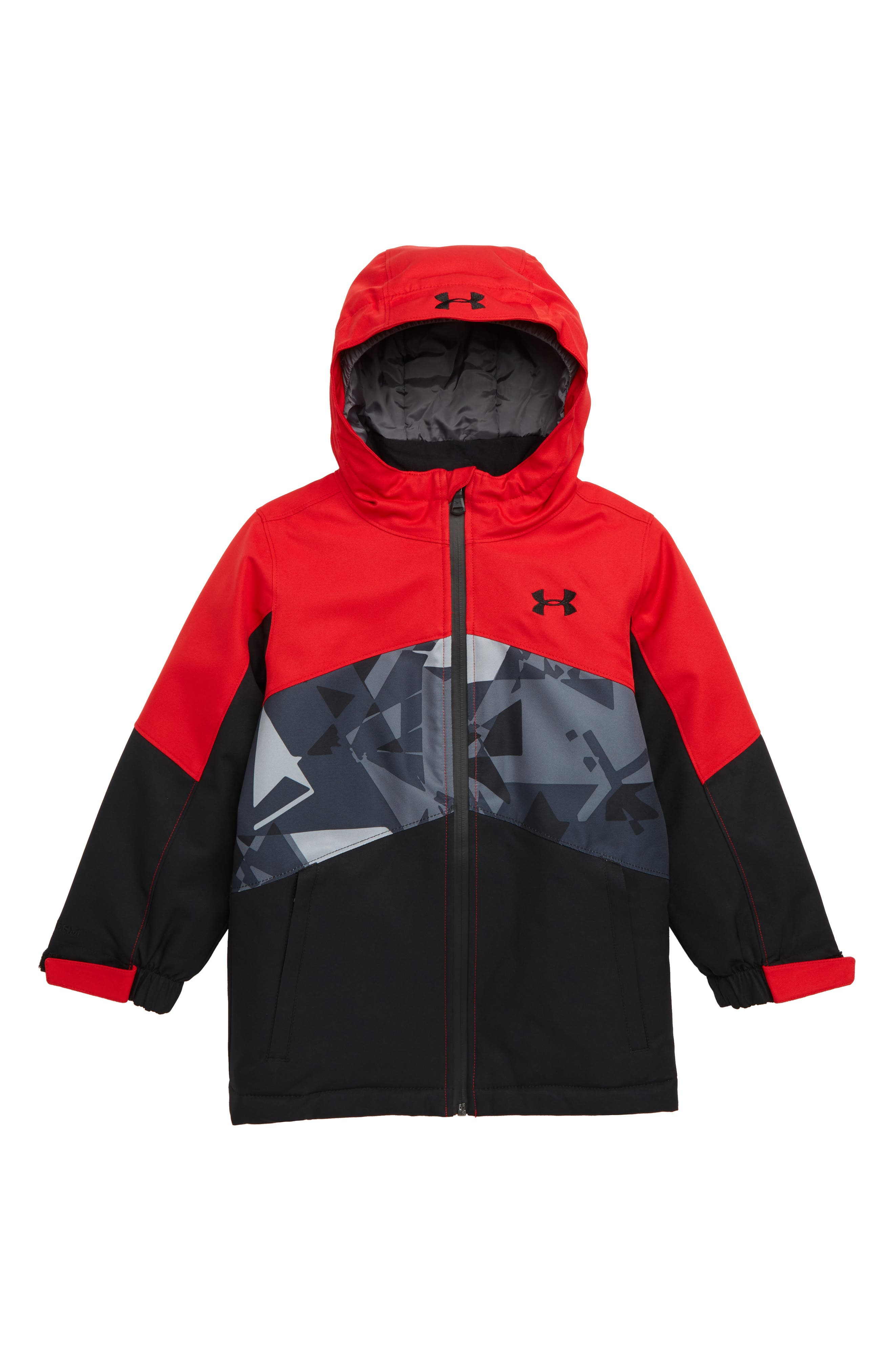 Zumatrek Water Repellent ColdGear<sup>®</sup> Hooded Jacket,                             Main thumbnail 1, color,                             RED