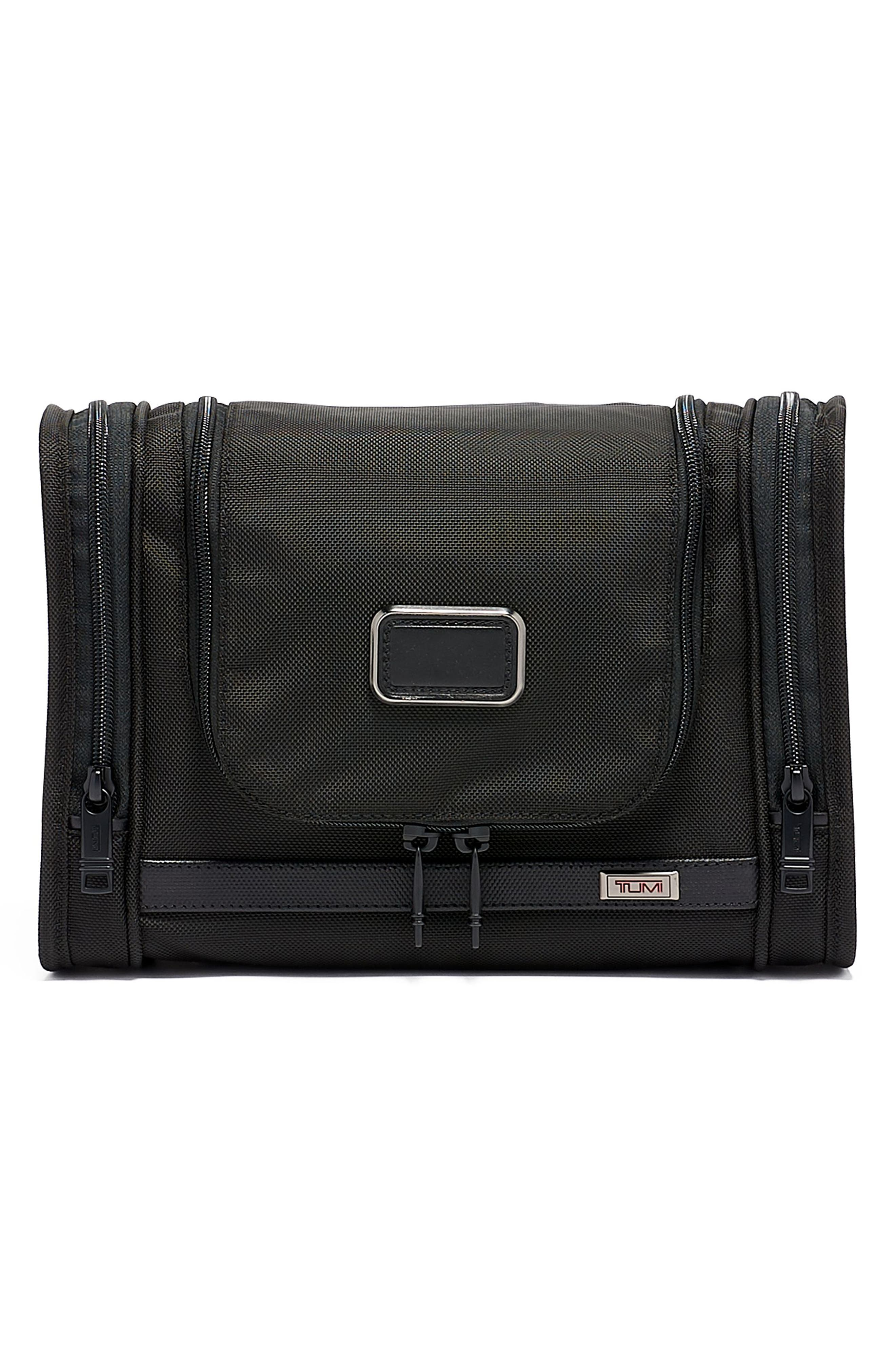 TUMI Alpha 3 Hanging Travel Kit, Main, color, BLACK