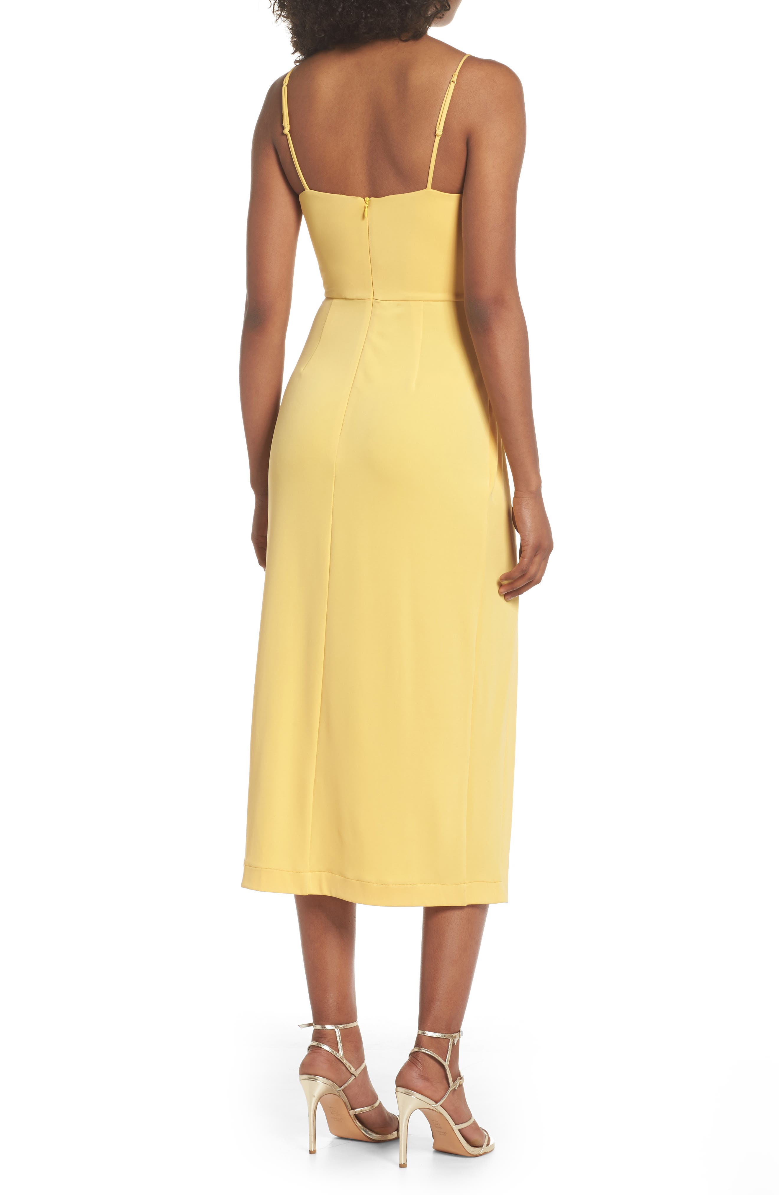 Recollect Slinky Side Tie Midi Dress,                             Alternate thumbnail 2, color,                             740