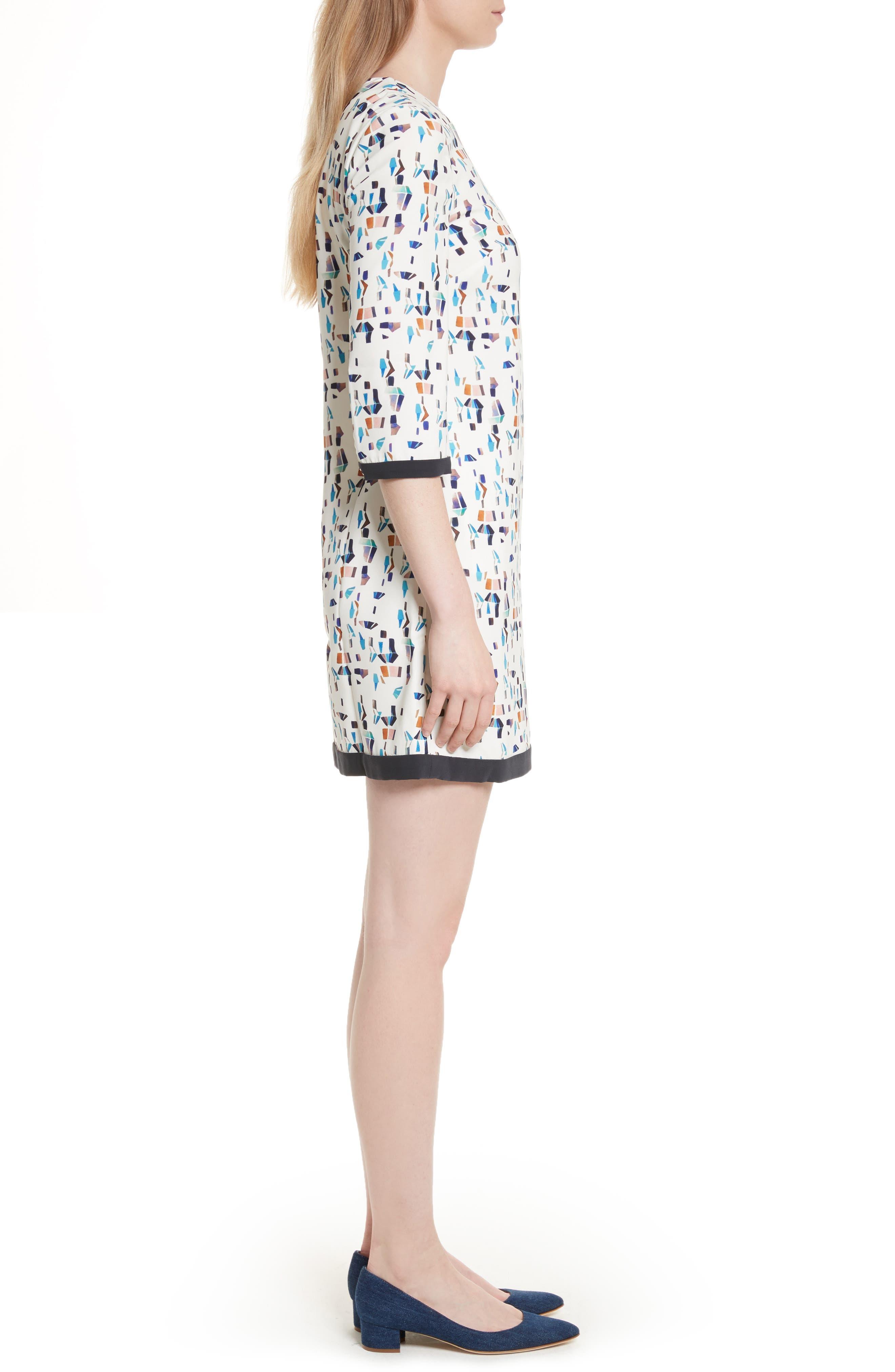 Limina Print Shift Dress,                             Alternate thumbnail 3, color,                             900