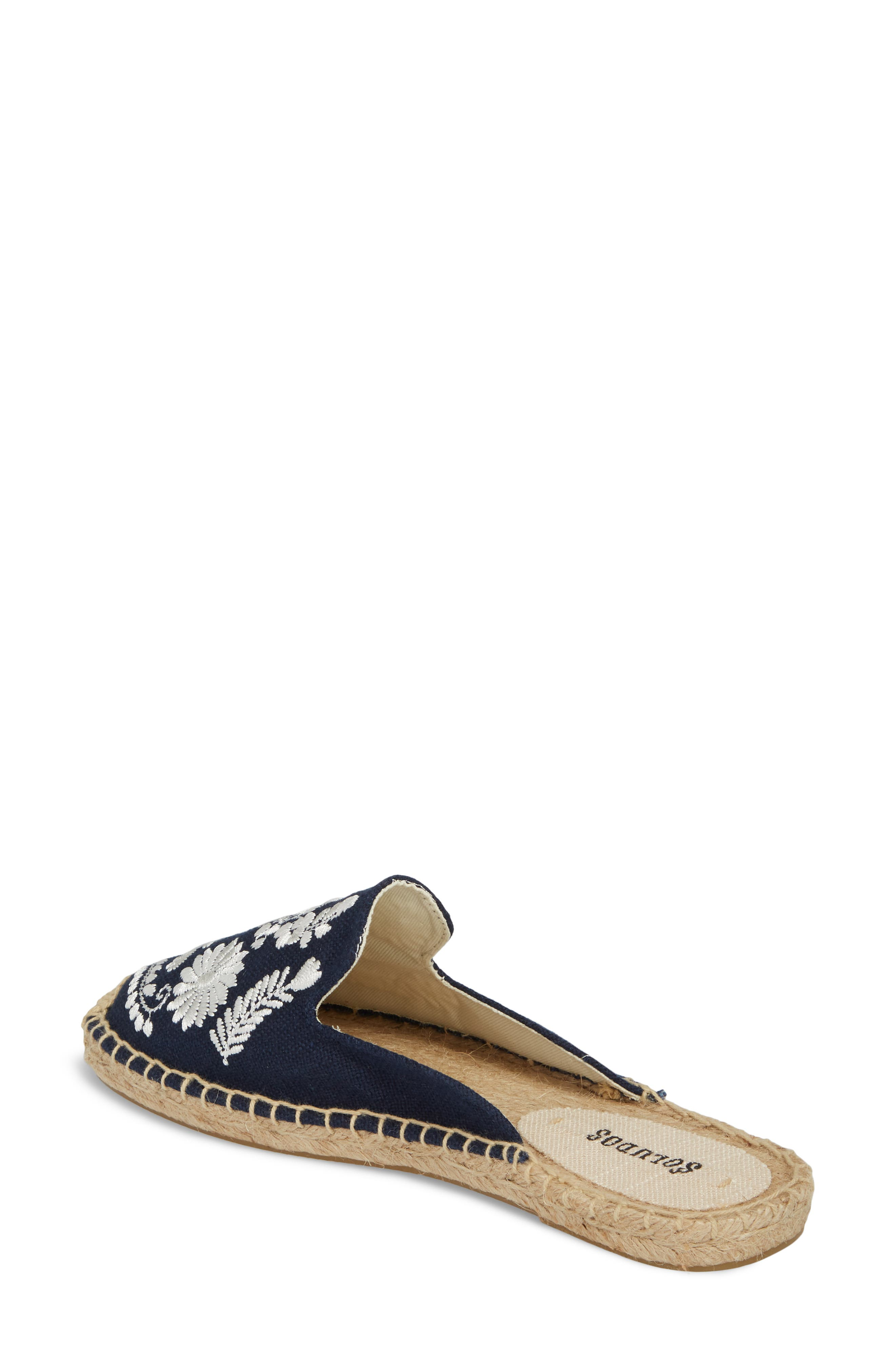 Ibiza Espadrille Mule,                             Alternate thumbnail 2, color,                             MIDNIGHT BLUE CANVAS