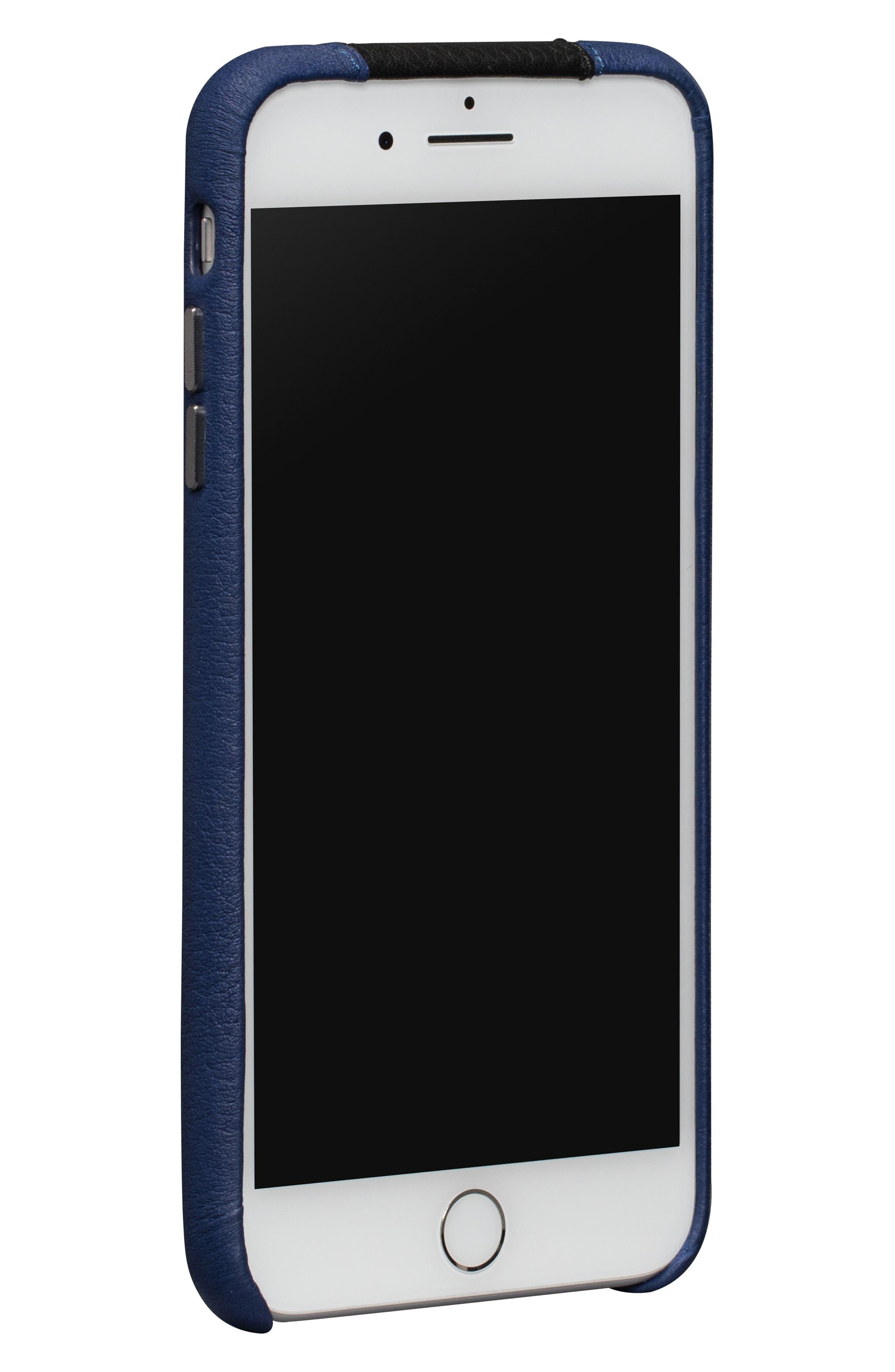 Racer iPhone 7 & 8 Plus Case,                             Alternate thumbnail 3, color,                             BLACK/ BLUE