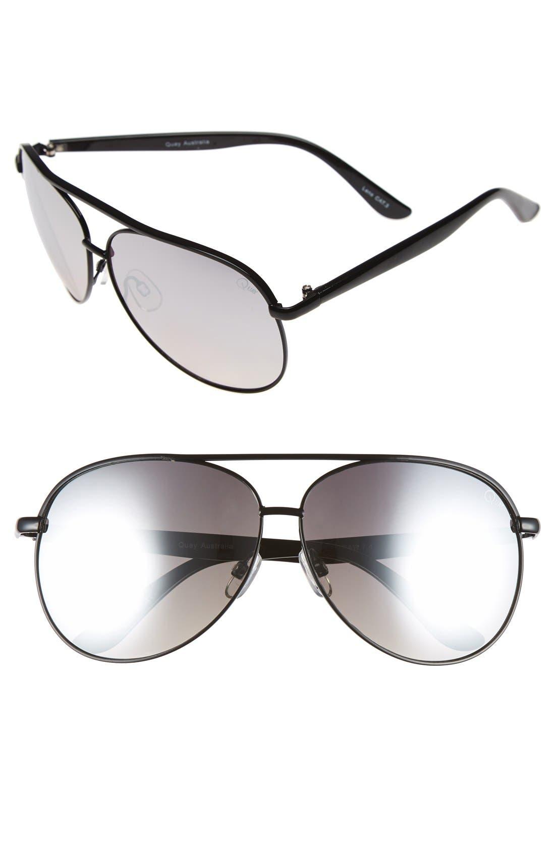 'Macaw' 65mm Aviator Sunglasses,                             Main thumbnail 1, color,                             003