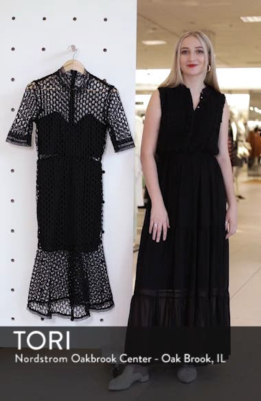 Fiona Mesh Lace Trumpet Dress, sales video thumbnail
