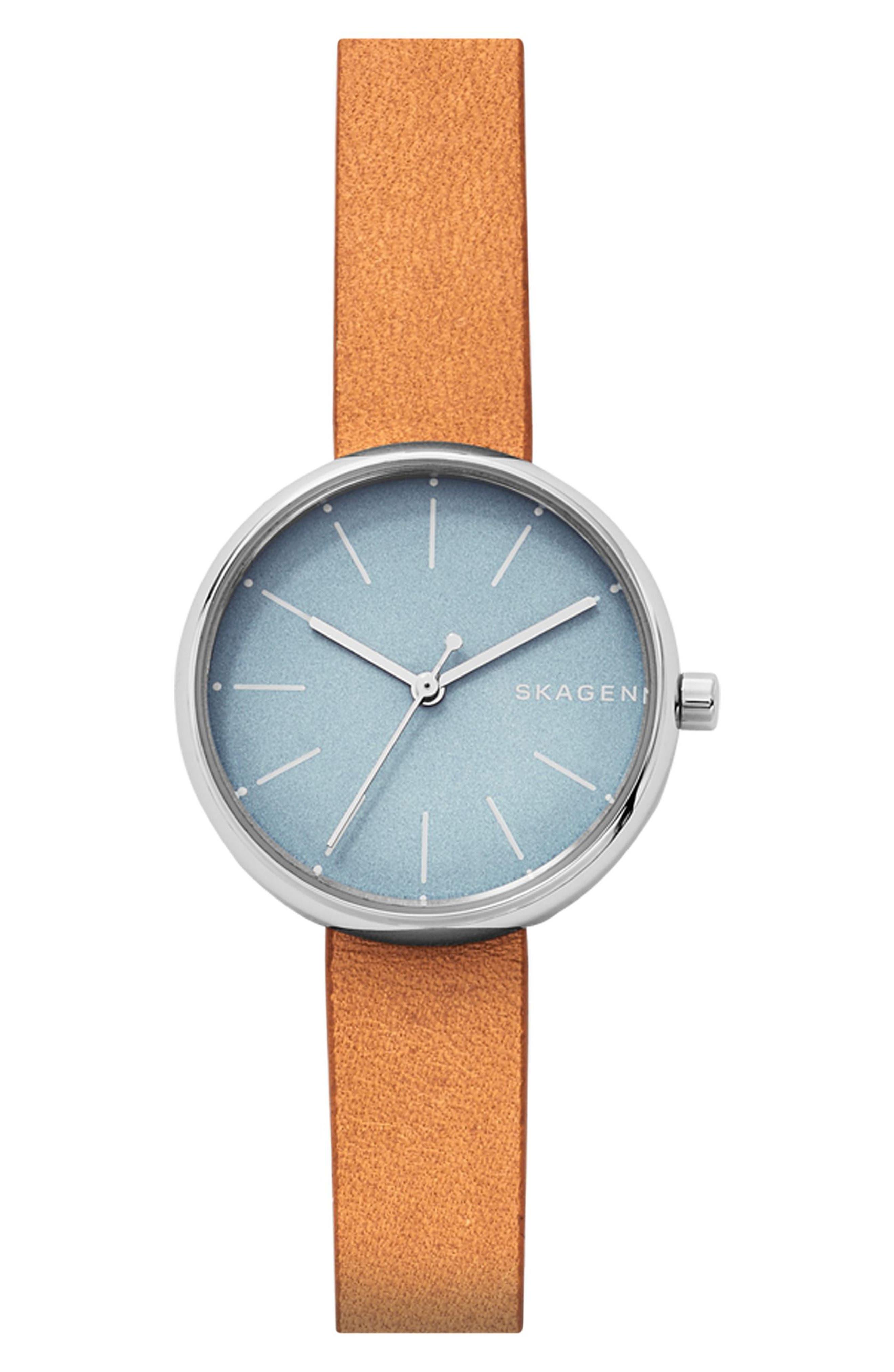 Signatur Leather Strap Watch, 30mm,                             Main thumbnail 2, color,