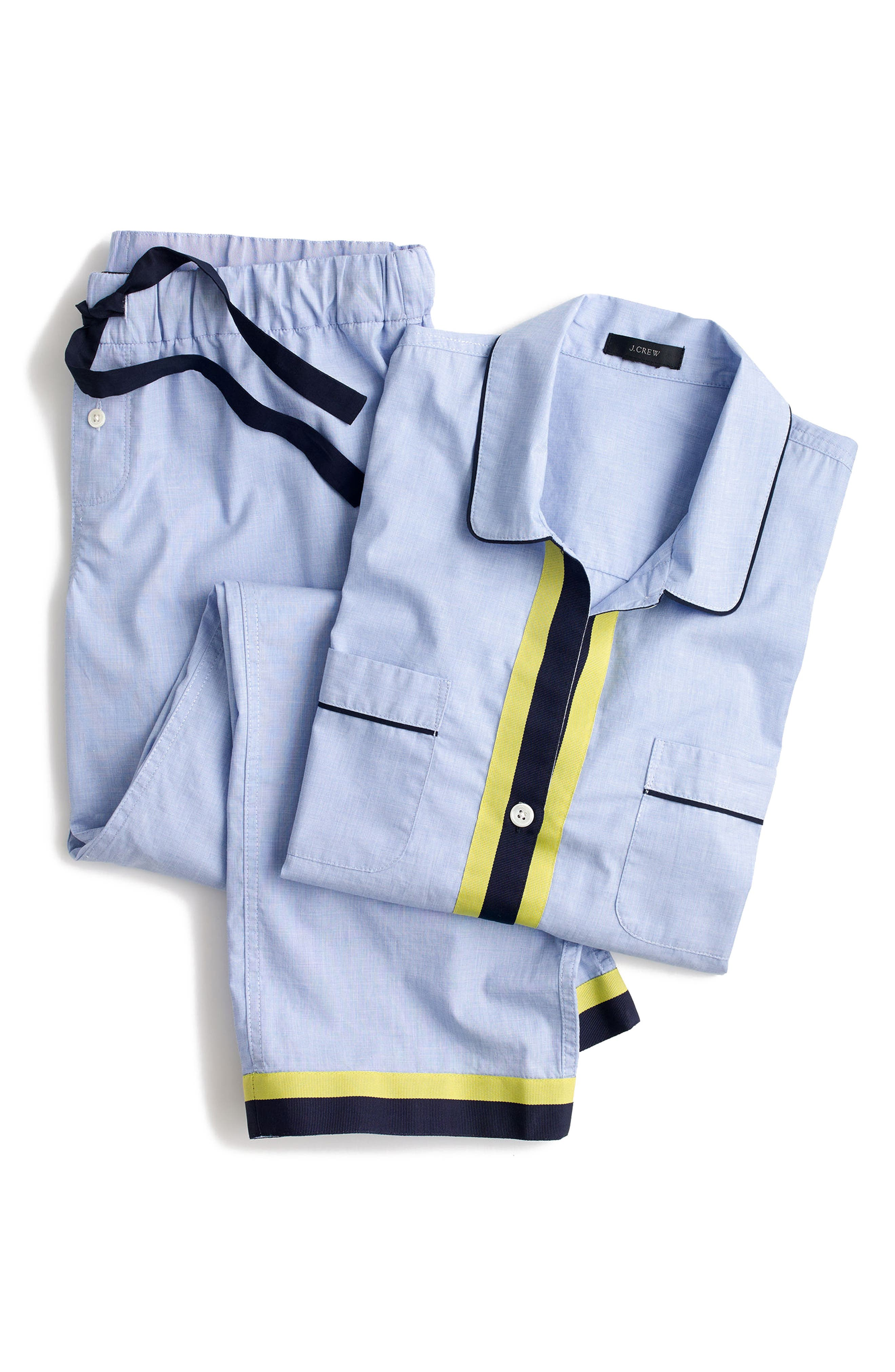 Grosgrain Trim Cotton Pajamas,                             Alternate thumbnail 2, color,                             400
