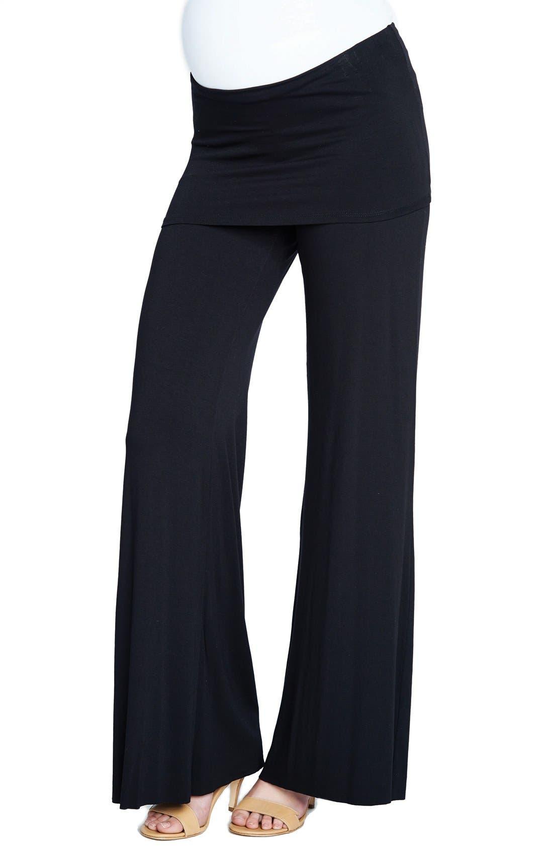 Knit Flare Leg Maternity Pants,                         Main,                         color, 410