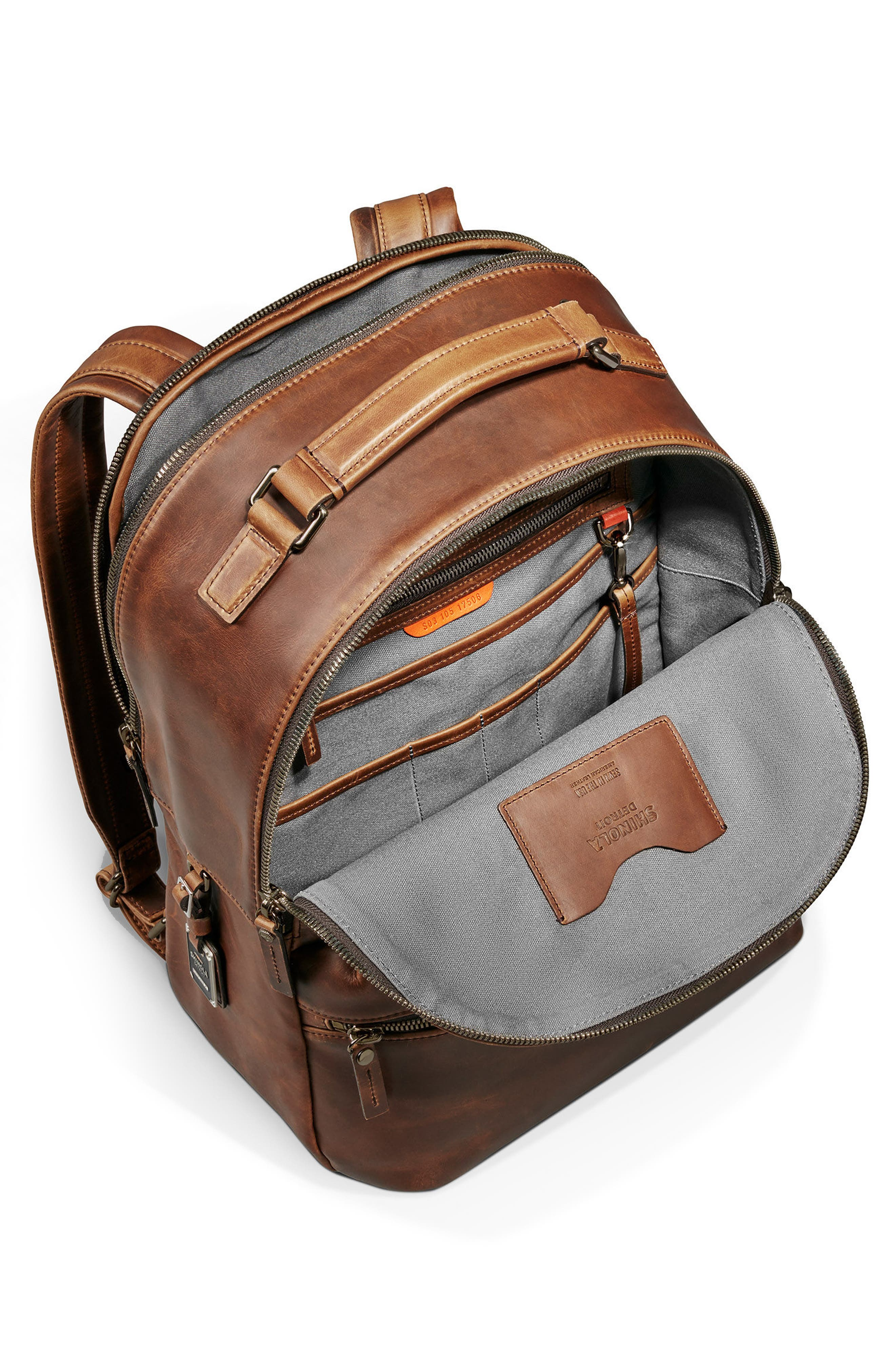 Runwell Leather Backpack,                             Alternate thumbnail 3, color,                             215