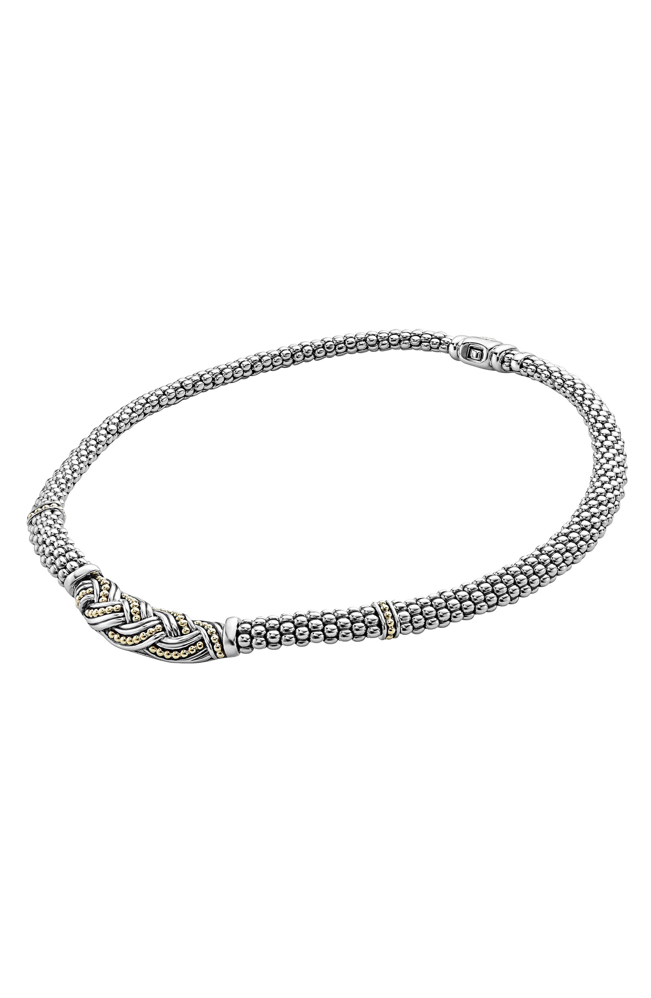 Torsade Rope Necklace,                             Alternate thumbnail 2, color,                             SILVER/ GOLD