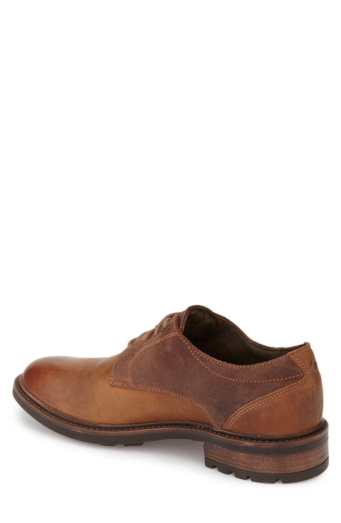 Oscar Plain Toe Derby,                             Alternate thumbnail 2, color,                             CASTAGNE LEATHER