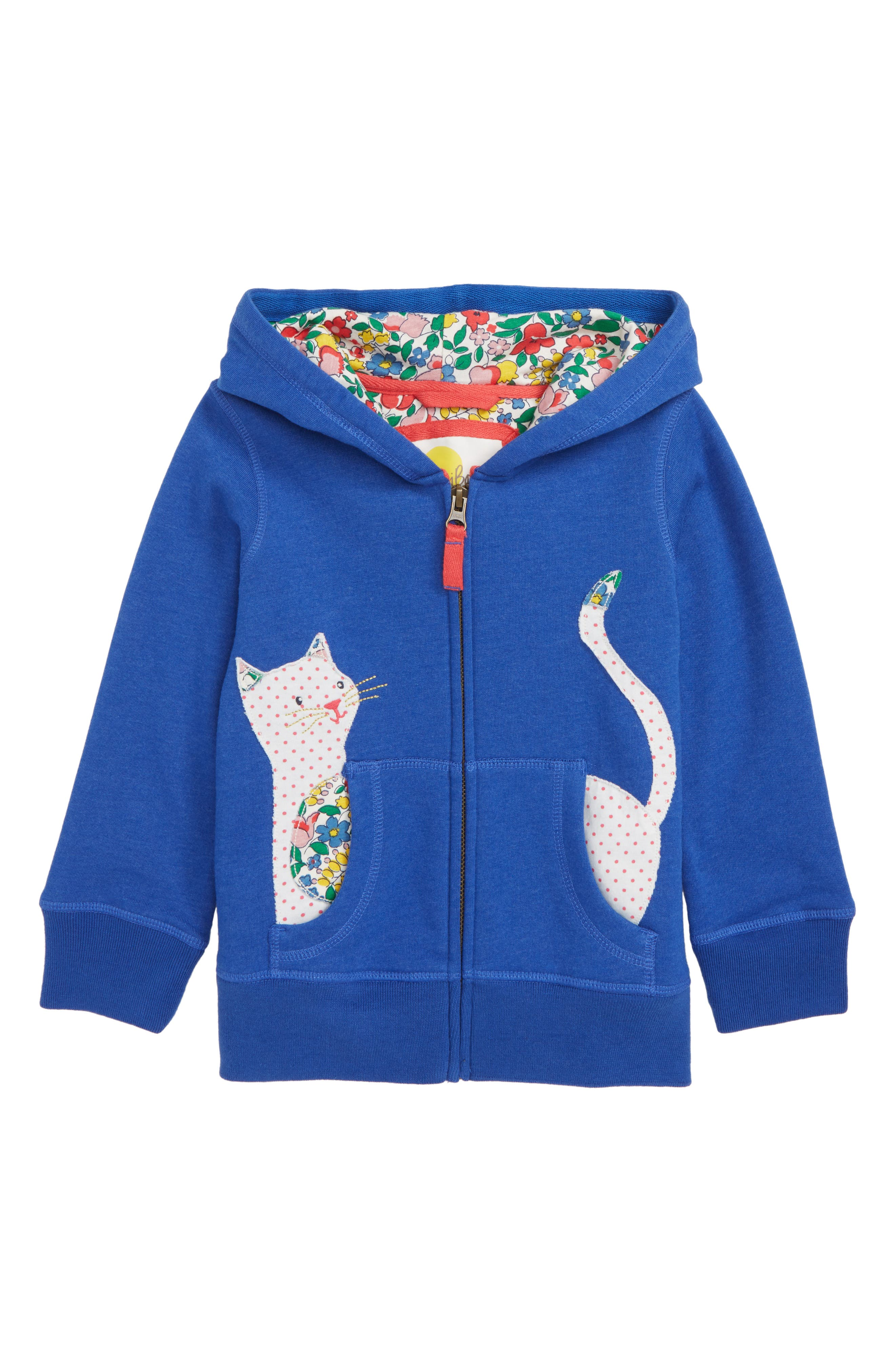 Novelty Front Zip Hoodie,                             Main thumbnail 1, color,                             COBALT BLUE PEGASUS