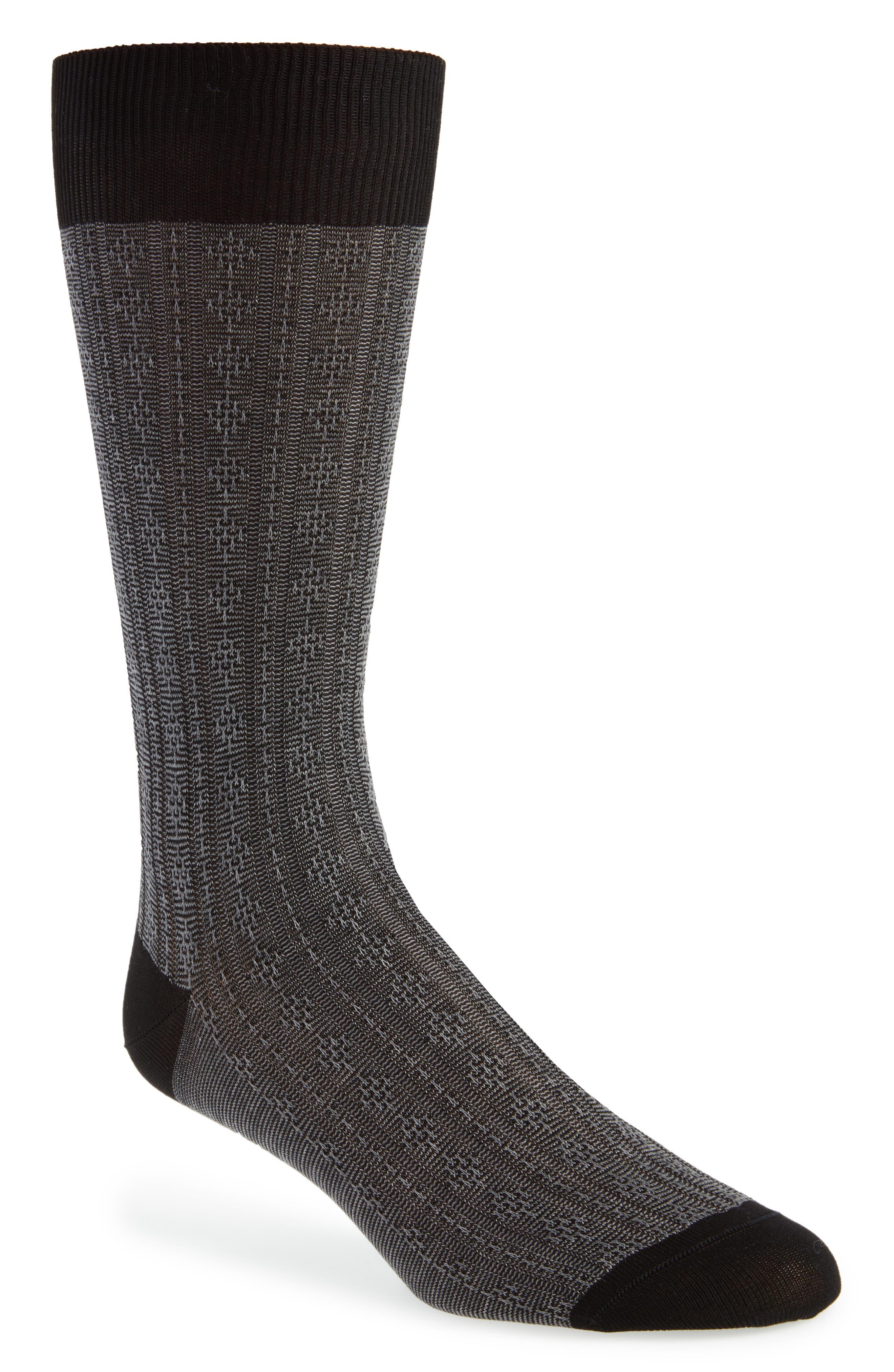 Atom Stitch Socks,                             Main thumbnail 1, color,                             001