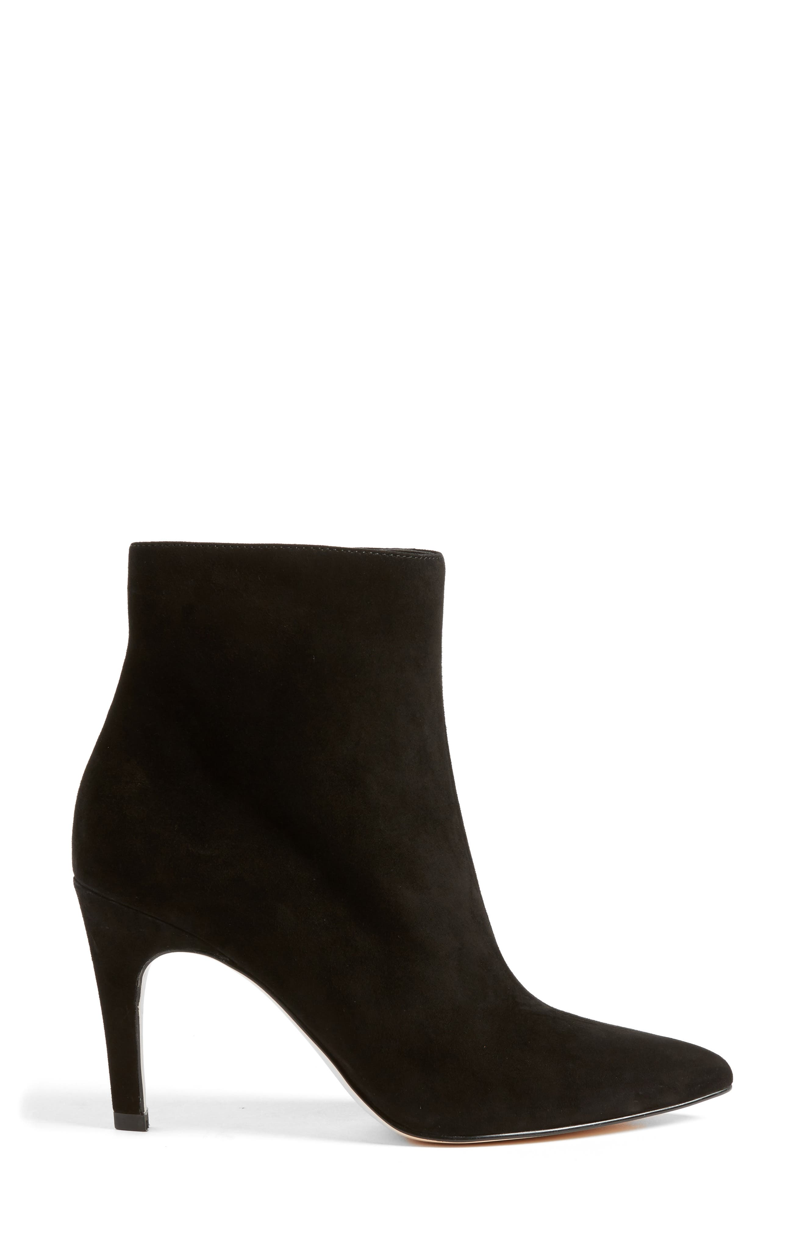Macee Bootie,                             Alternate thumbnail 3, color,                             BLACK SUEDE