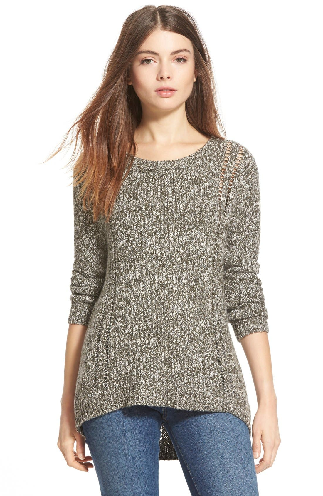 Back Detail Sweater, Main, color, 300