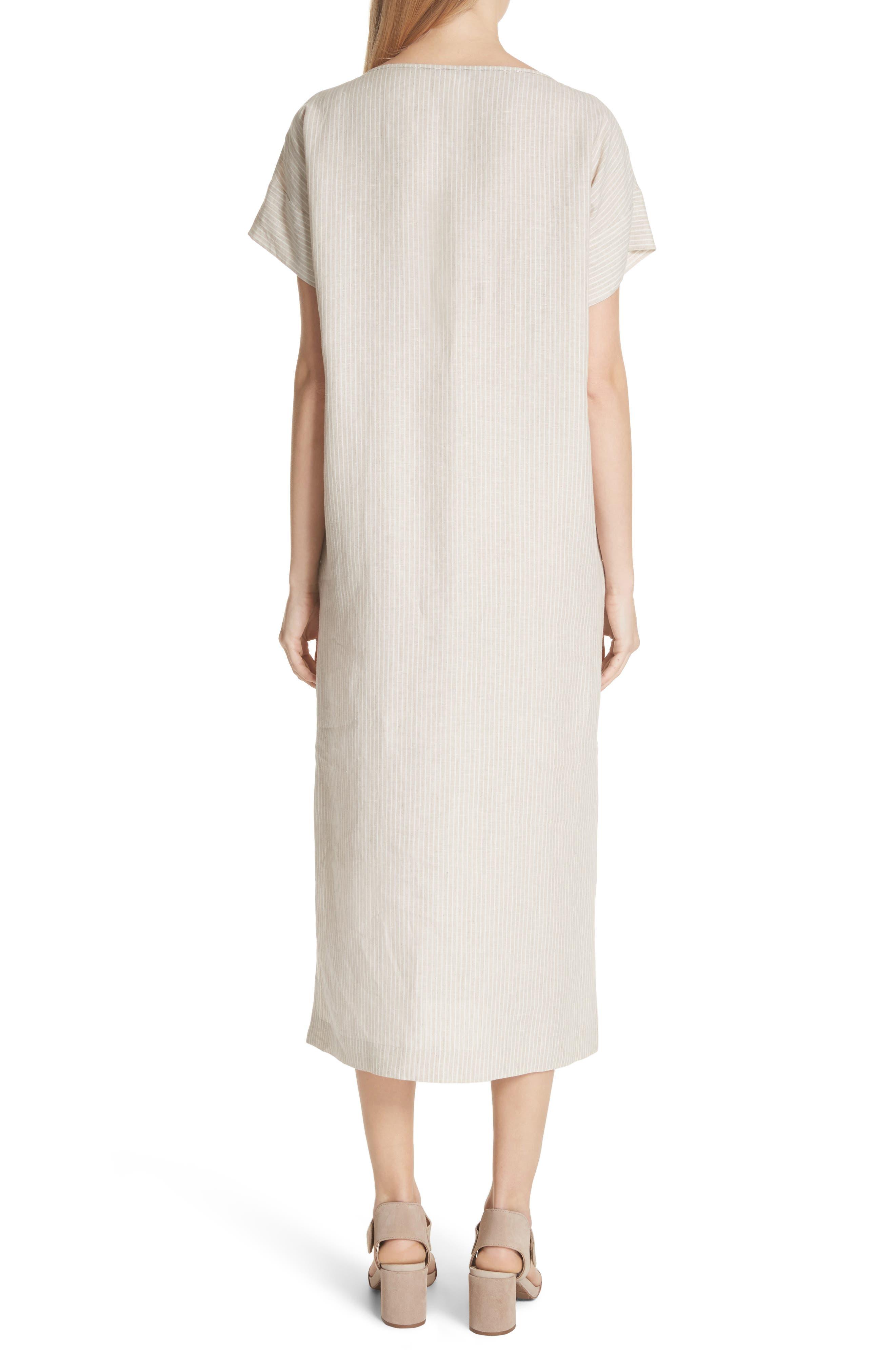 LAFAYETTE 148 NEW YORK,                             Emiline Stripe Linen Dress,                             Alternate thumbnail 2, color,                             251